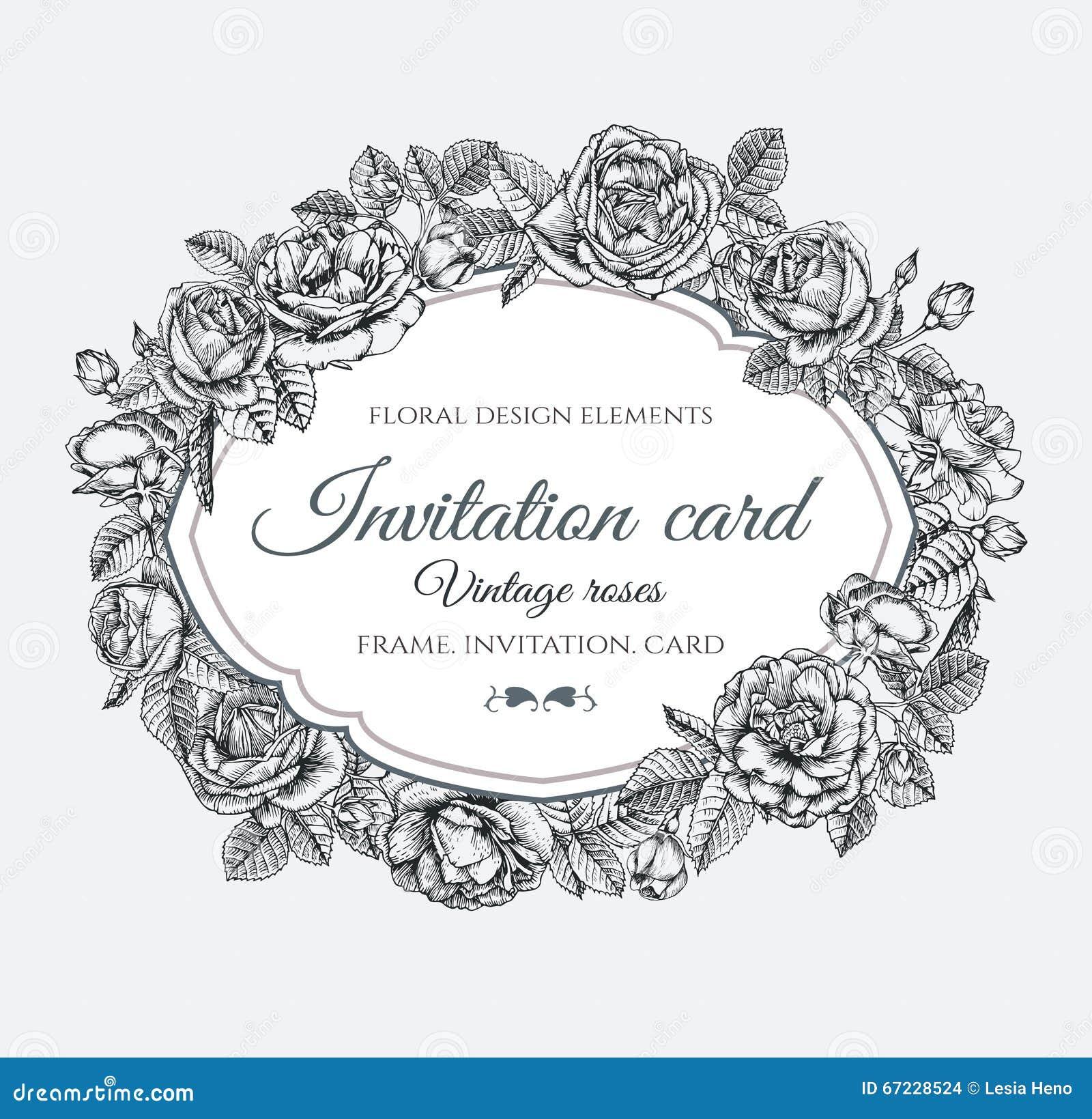 Hand Drawn Floral Frame