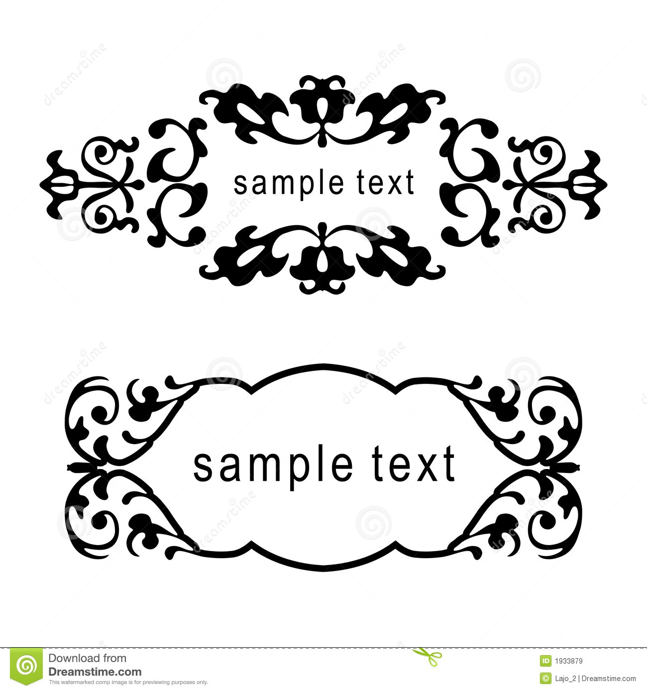 Vector Floral Frames Stock Vector Illustration Of Foliage