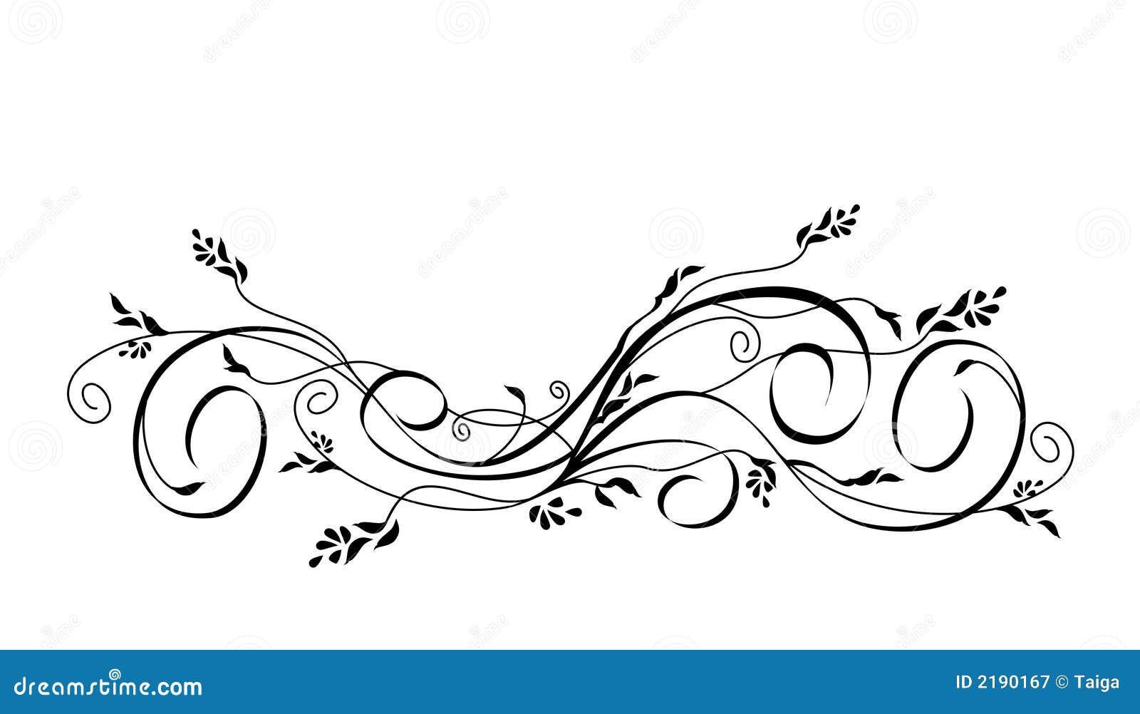 Line Art Designs Free Download : Vector floral scroll ornament stock illustration