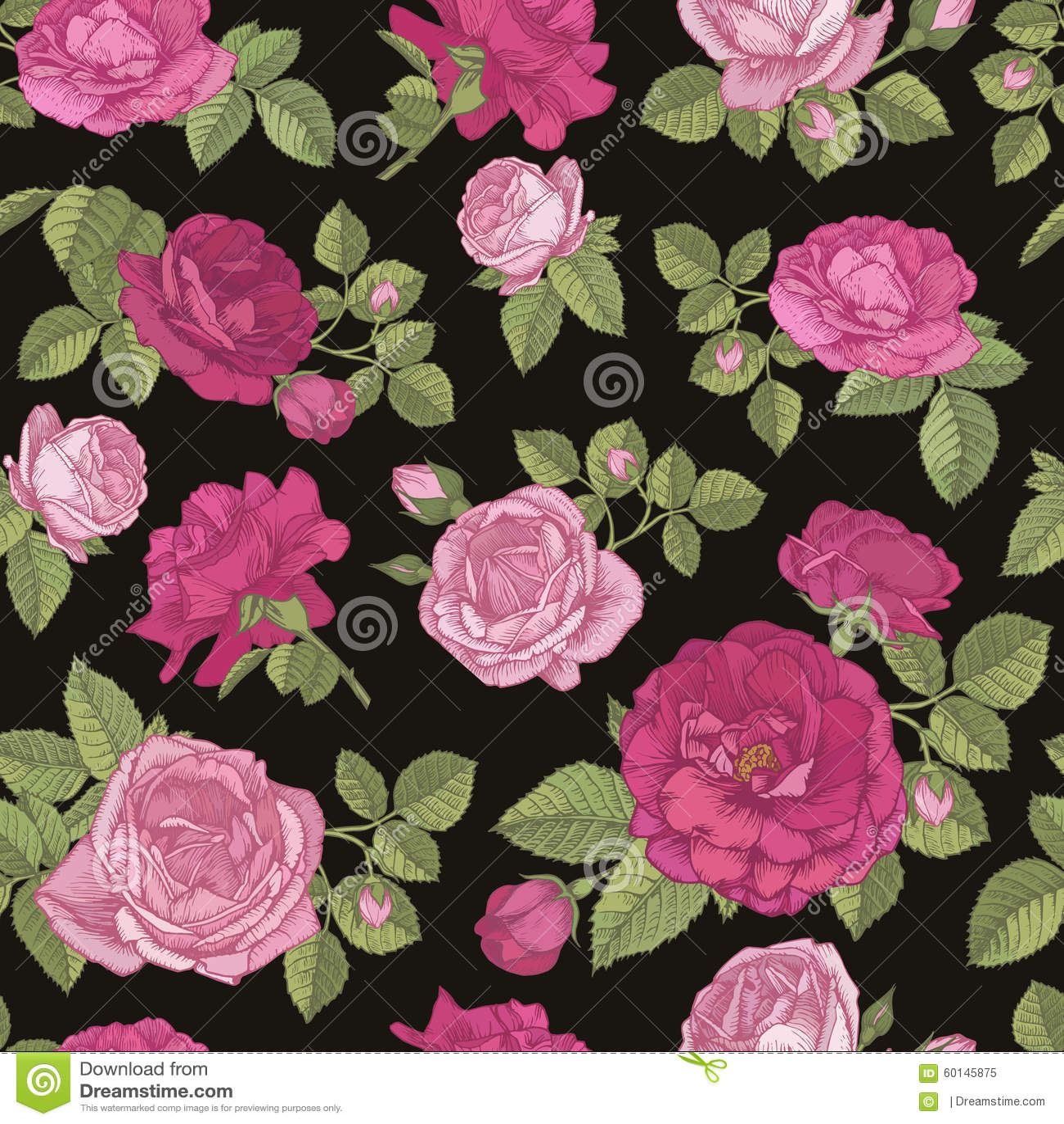 Red rose pattern wallpaper