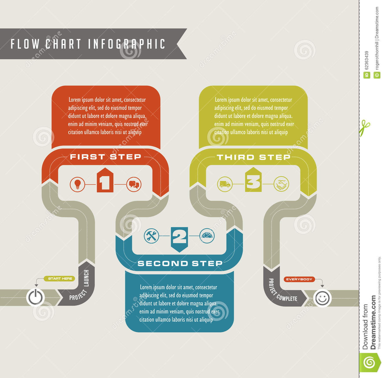 Vector Flow Chart Template Infographic  Flow Chart Format