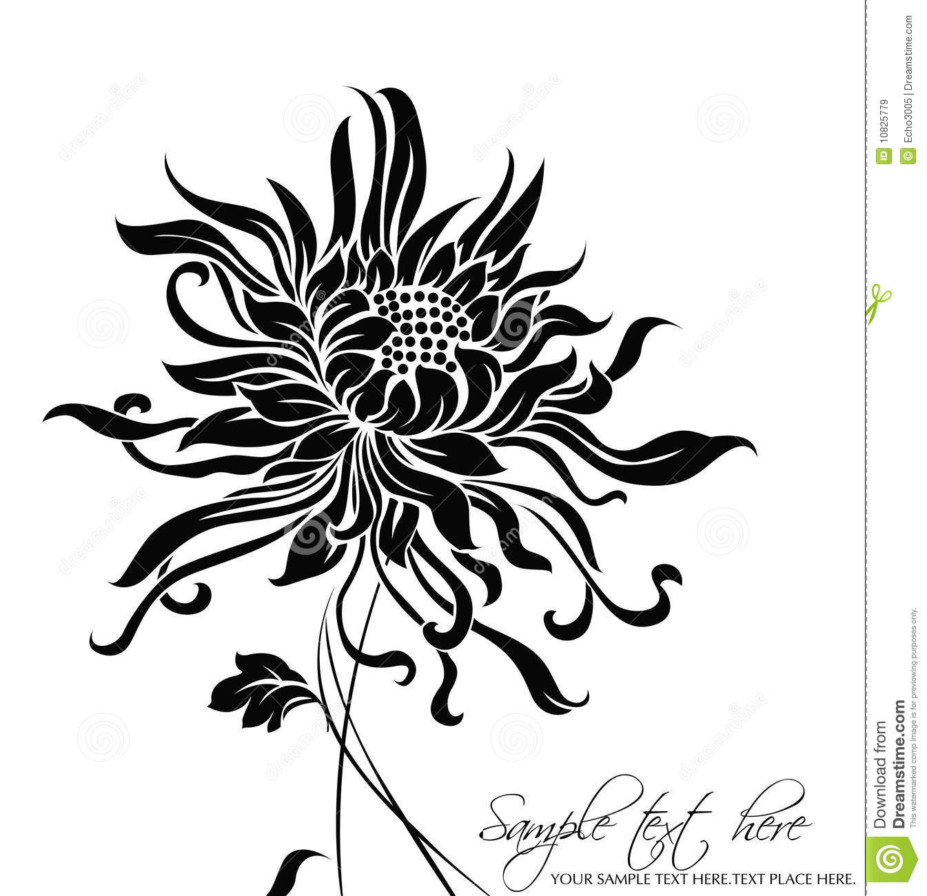 Vector Flower Background Royalty Free Stock Images - Image: 10825779