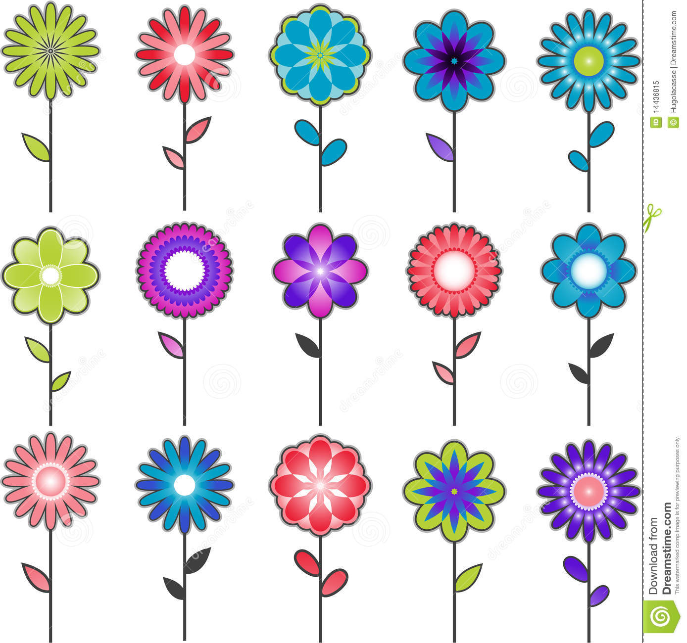Vector Flower Designs Royalty Free Stock Photo Image