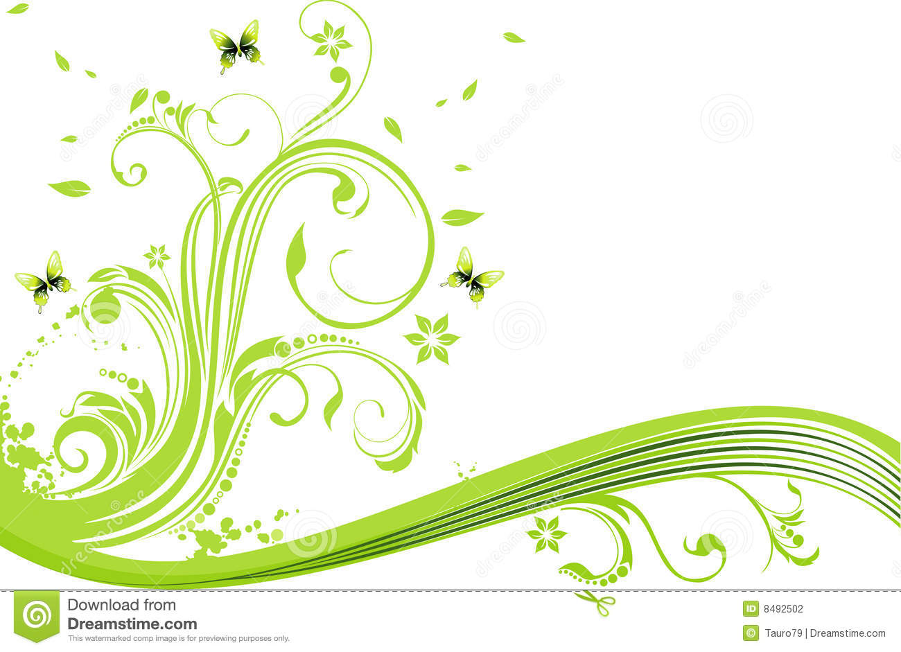 Vector Flower Illustration Stock Photography - Image: 8492502