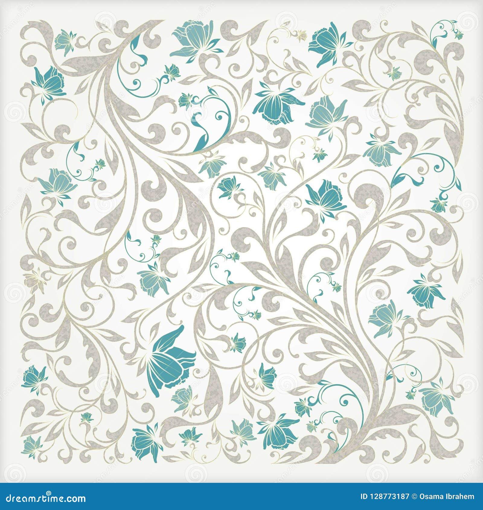 Vector Flower Seamless Pattern Background Elegant Texture For
