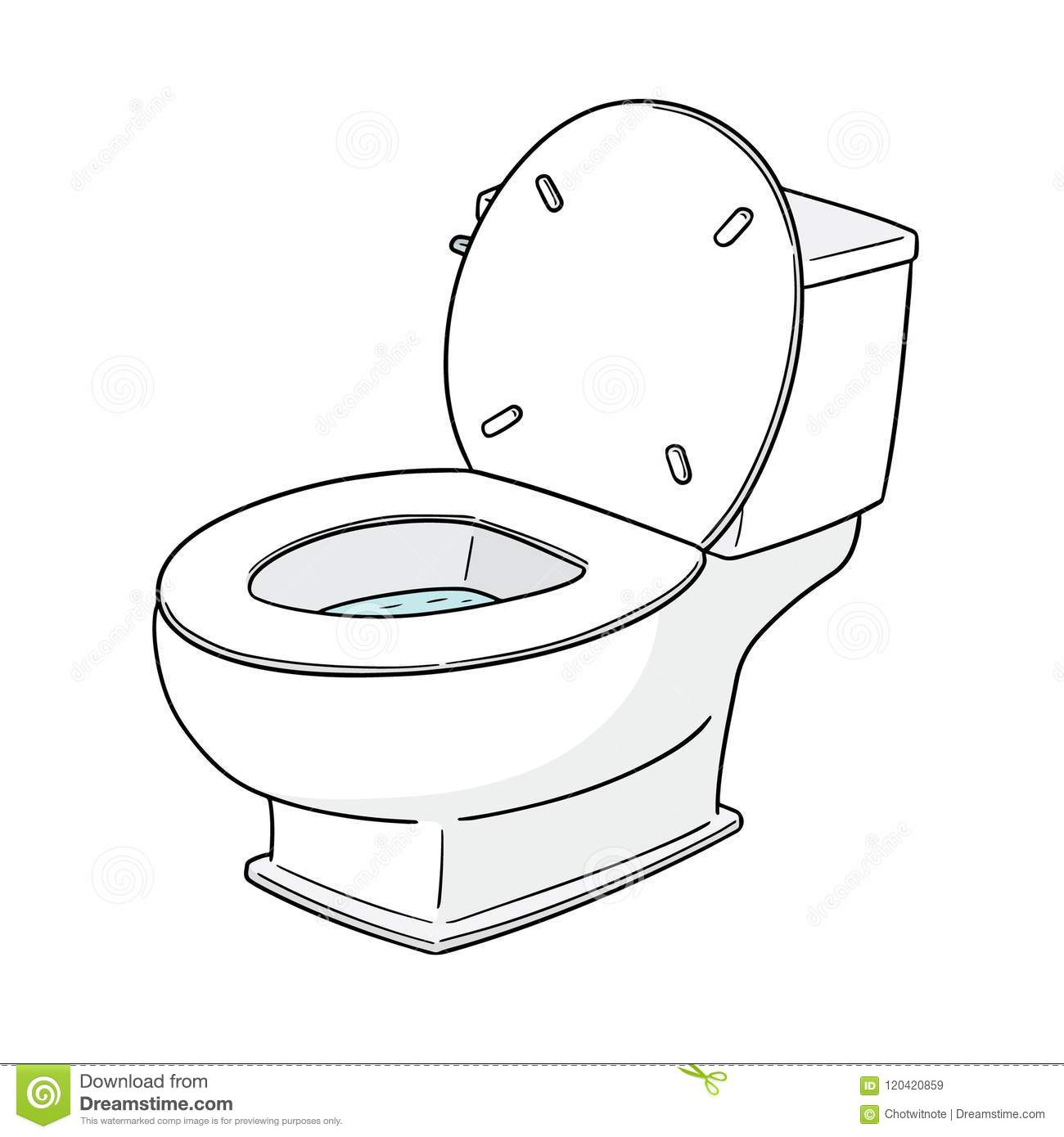 Vector Of Flush Toilet Stock Vector. Illustration Of