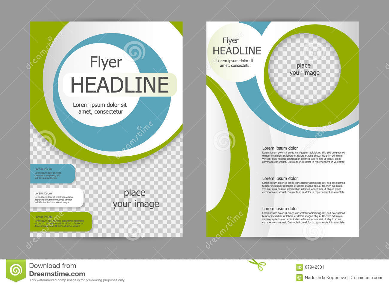 vector flyer template design stock vector illustration of