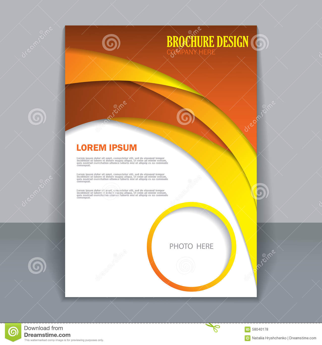 Vector Flyer Template For Design Stock Vector - Image: 58040178