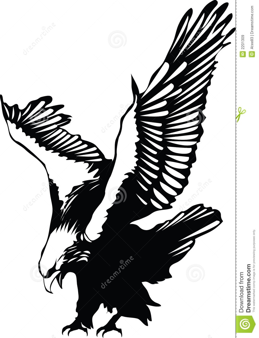 vector flying eagle stock vector image of contour abstract 2201309. Black Bedroom Furniture Sets. Home Design Ideas