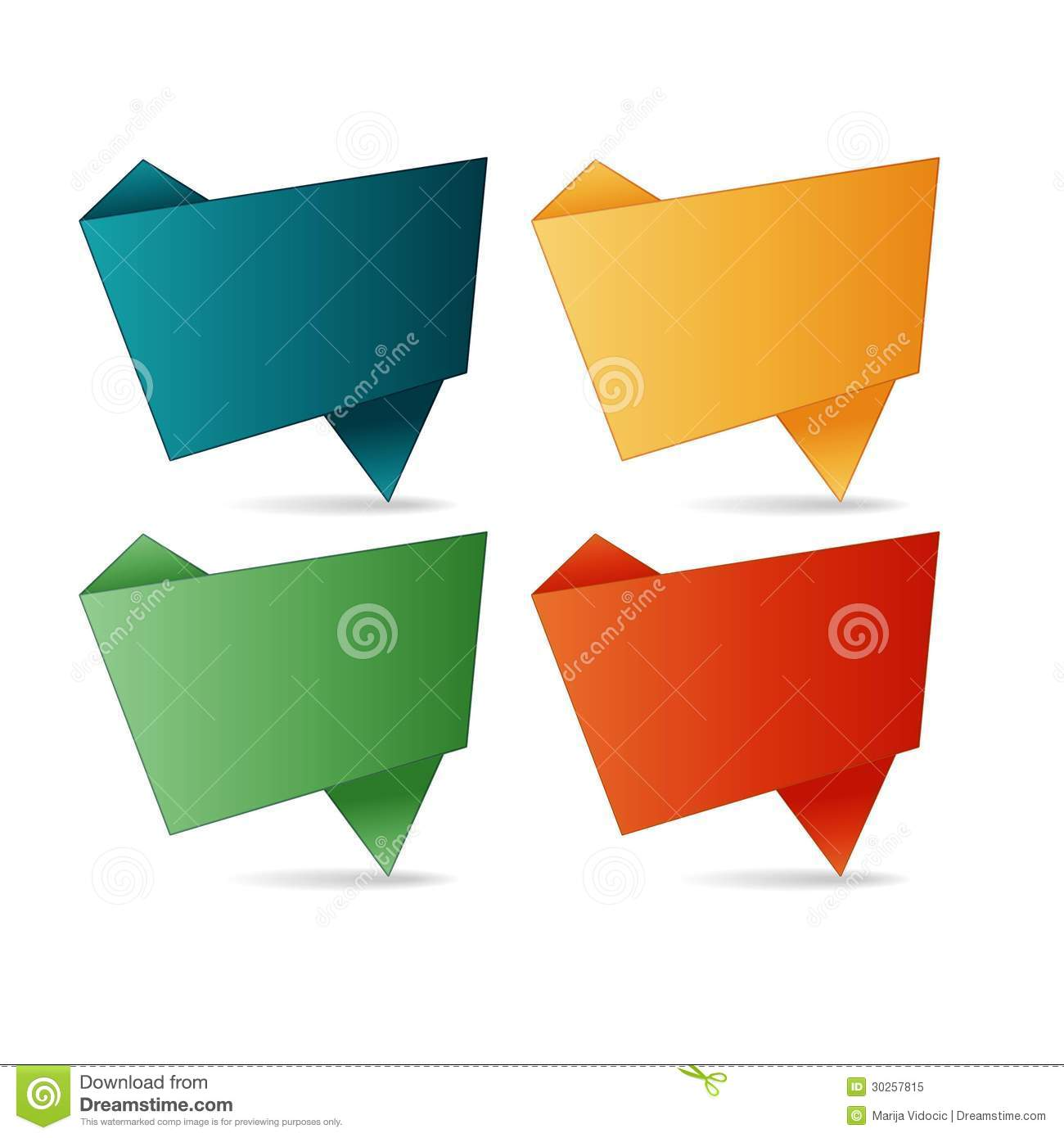 vector folded paper stock vector illustration of color 30257815