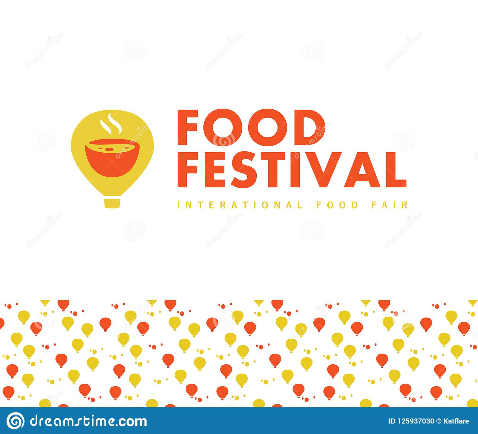 vector food festival logo template in different color variants