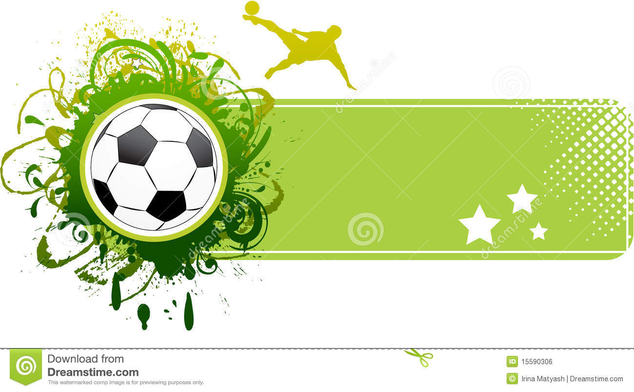 Vector Football Banner. Royalty Free Stock Image - Image: 15590306
