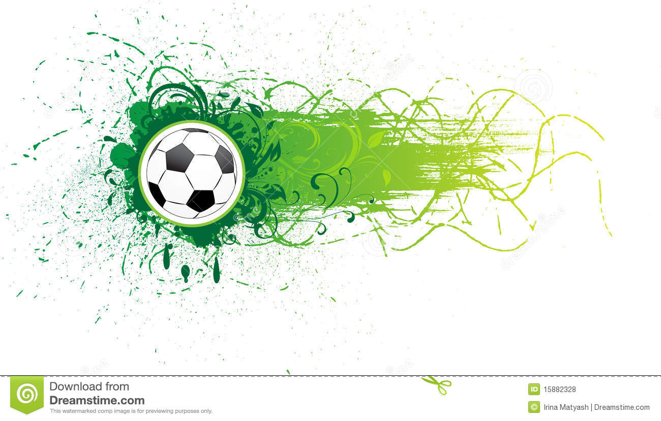 Vector Football Banner. Royalty Free Stock Photos - Image: 15882328