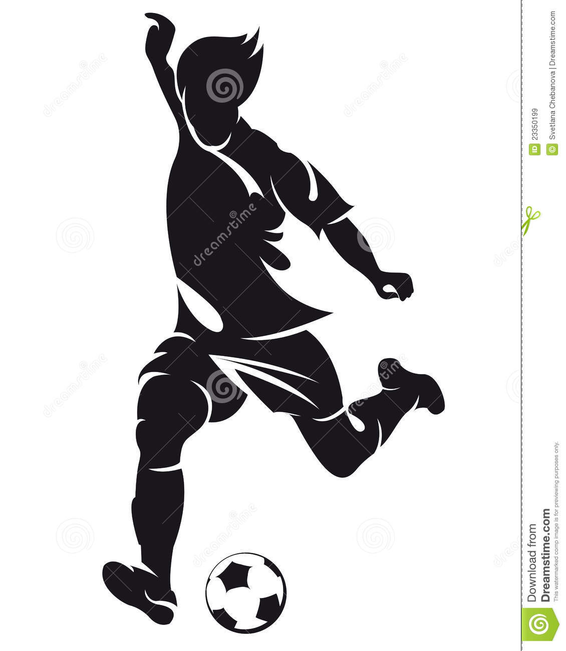 Vector Football (soccer) Player Silhouette Royalty Free Stock ...