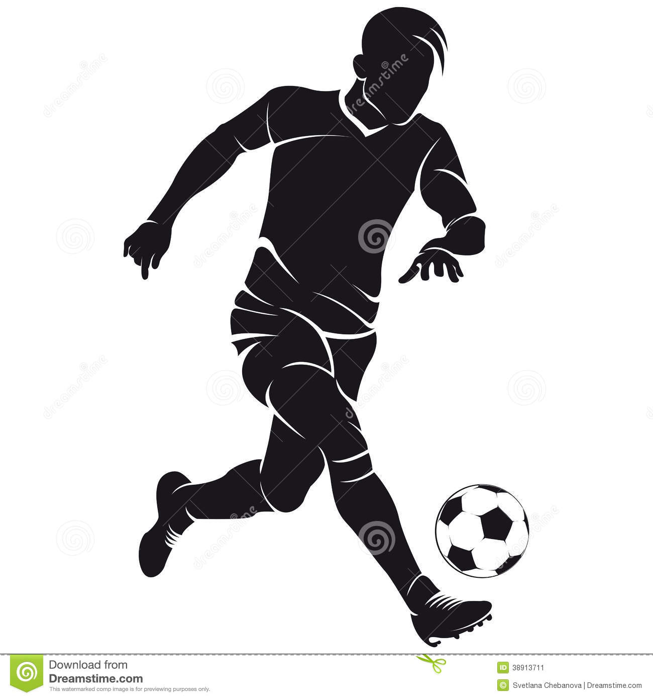 Vector Football (soccer) Player Silhouette Stock Illustration - Image ...
