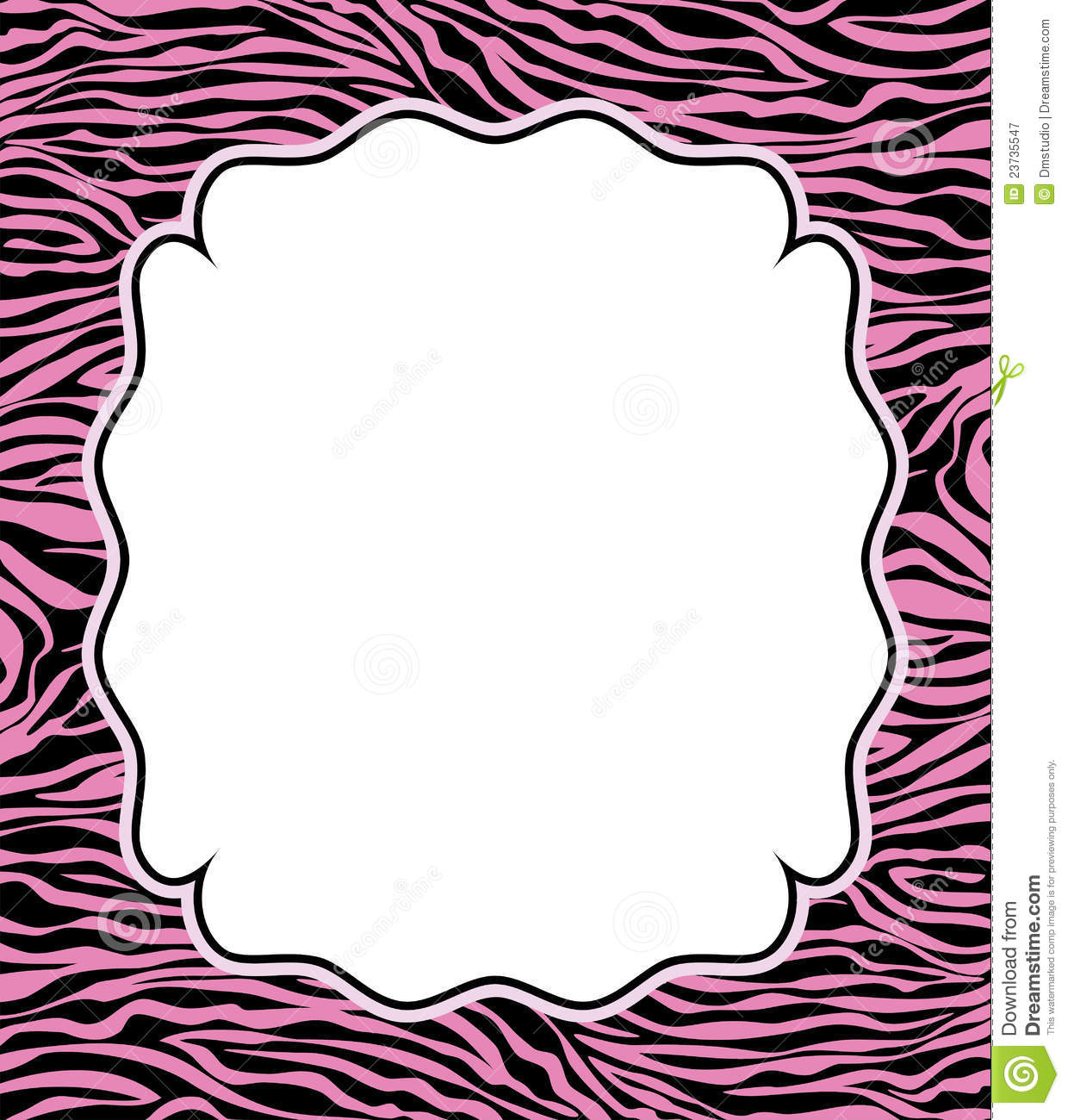 vector frame with abstract zebra skin texture royalty free