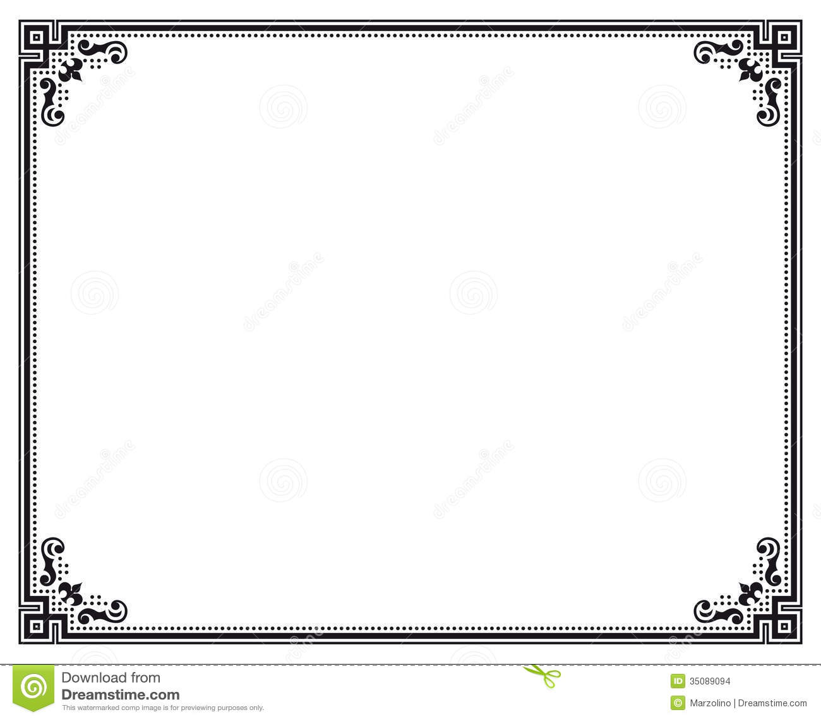 black certificate border templates