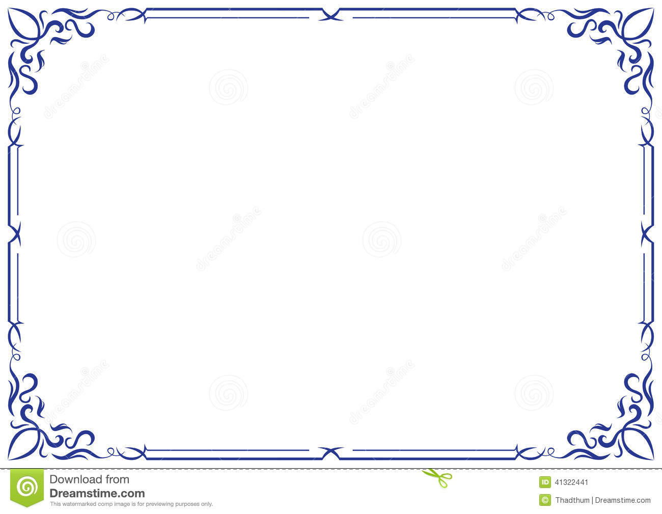 Vector Frame And Border Ornament Stock Vector - Illustration of ...