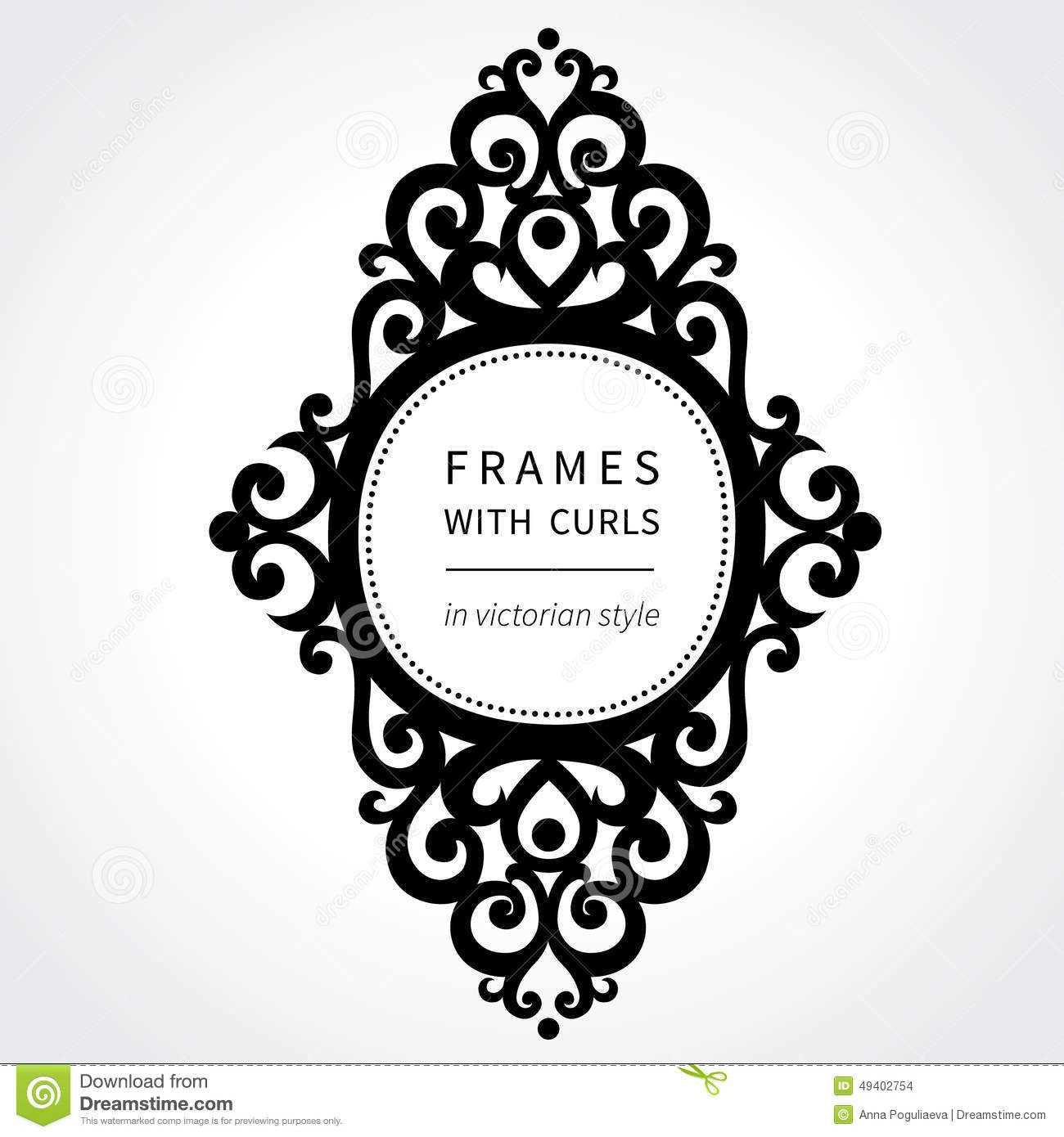 Vector Frame With Classical Ornament In Victorian Style