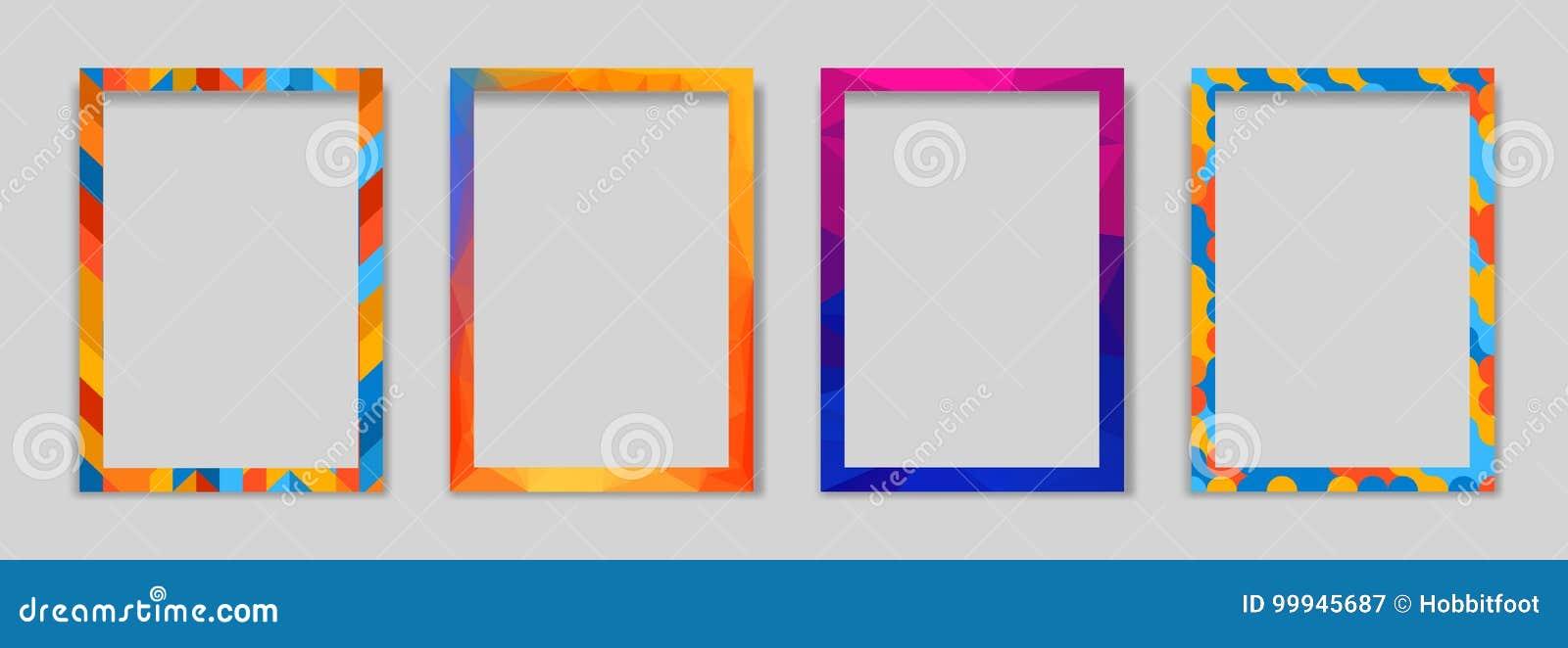 Vector Frame Modern Art Graphics Hipsters Style Geometric Motives