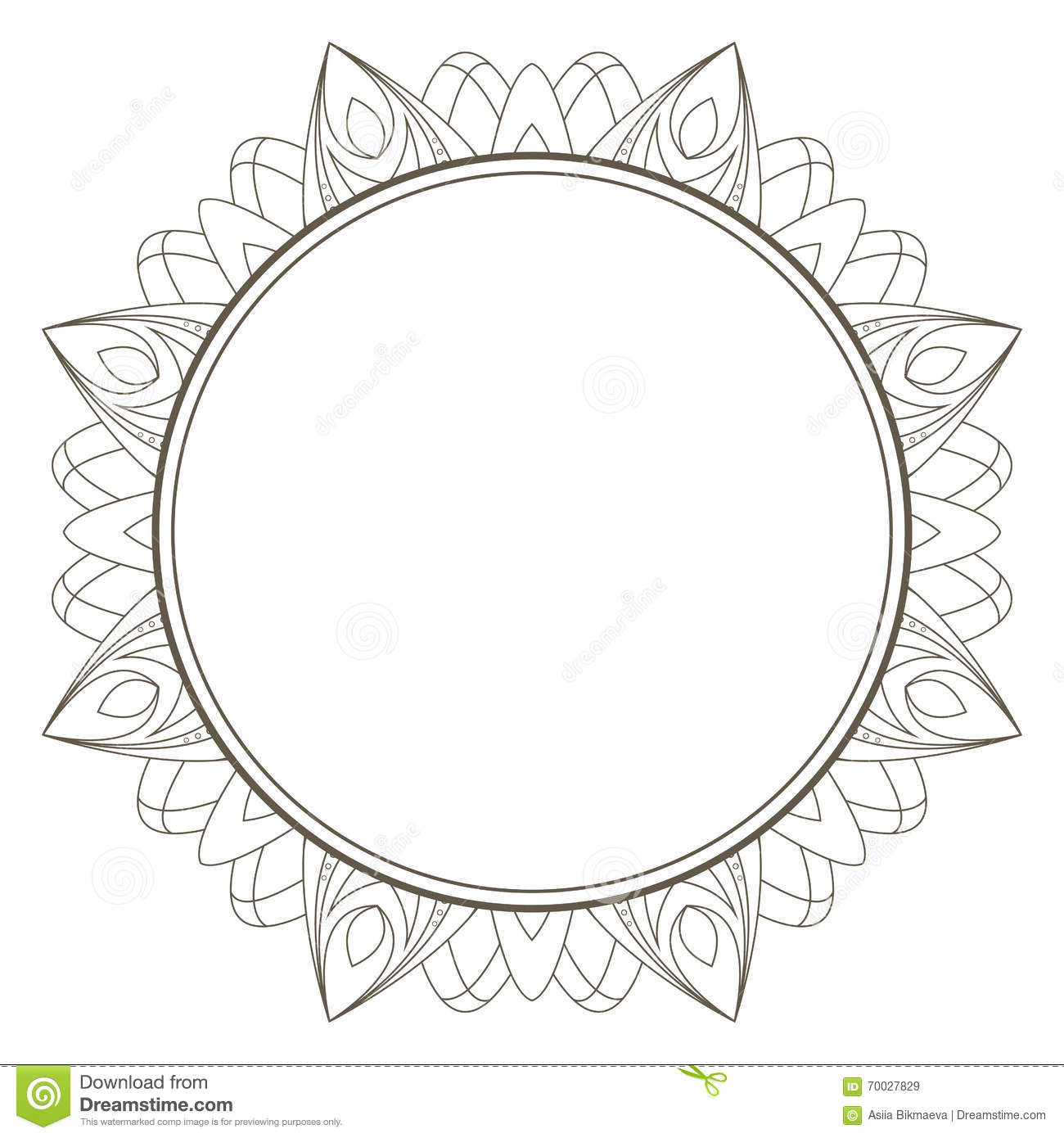 Vector Frame In Shape Of A Circle. Ornate Element For Design. Vi ...