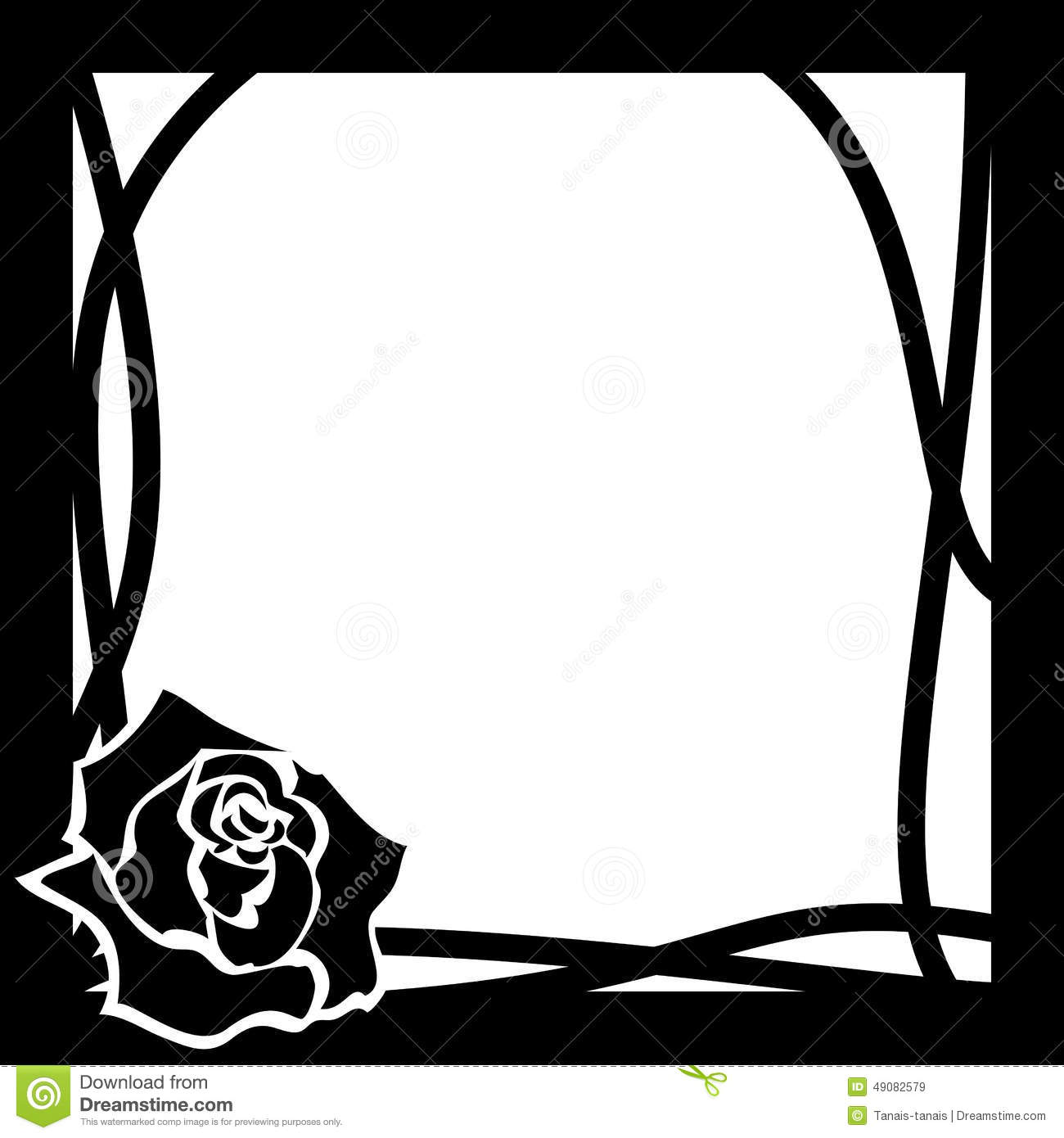 Black And White Rose Clipart - Black And White Rose Png - 640x480 PNG  Download - PNGkit