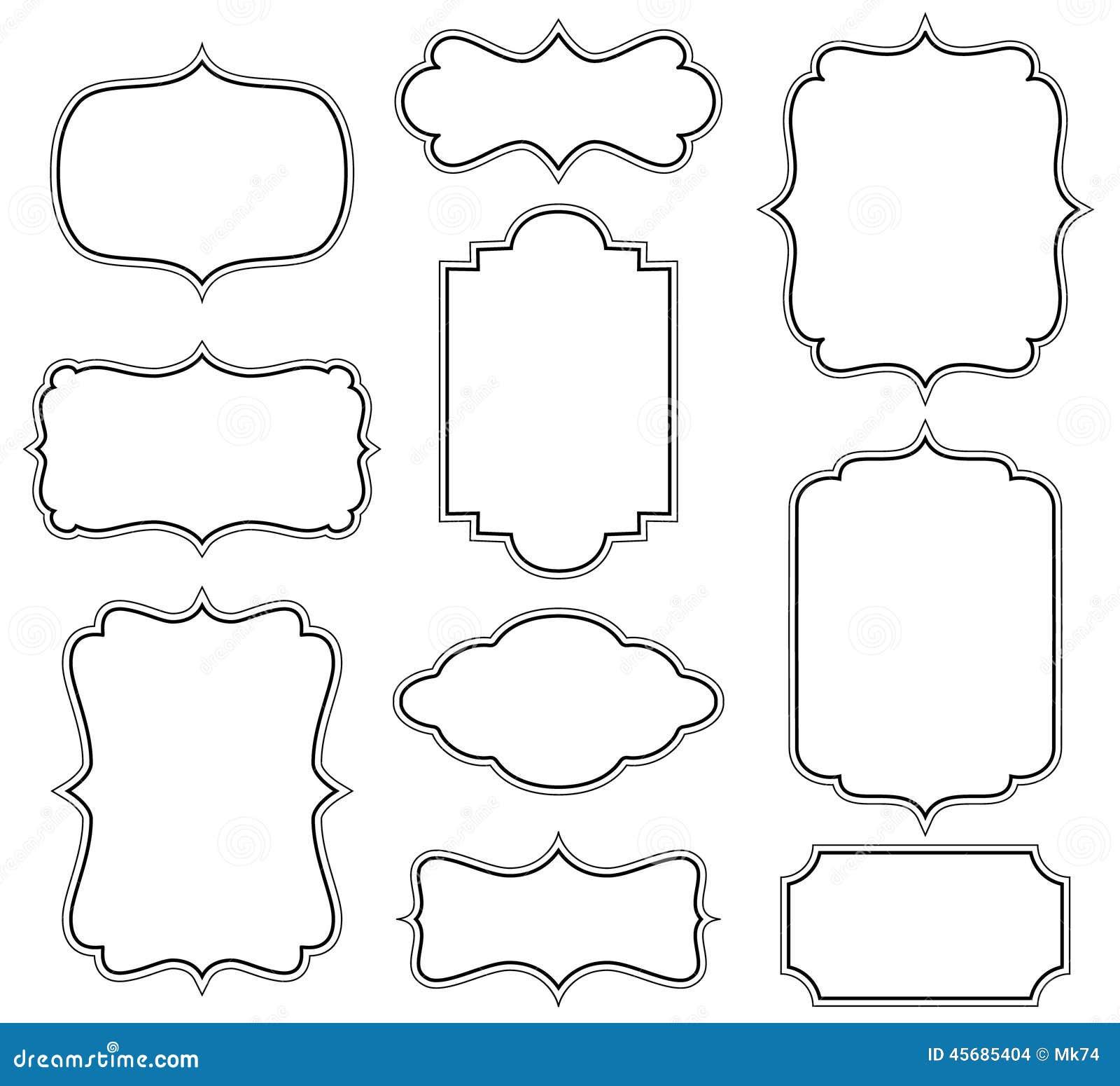 Glasses Frame Vector : Vector Frames Stock Vector - Image: 45685404