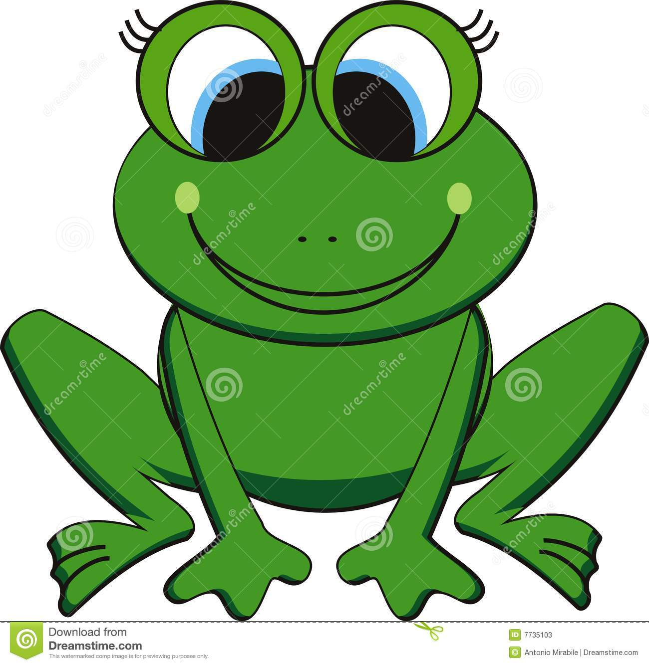 Vector Frog Stock Vector Illustration Of Background