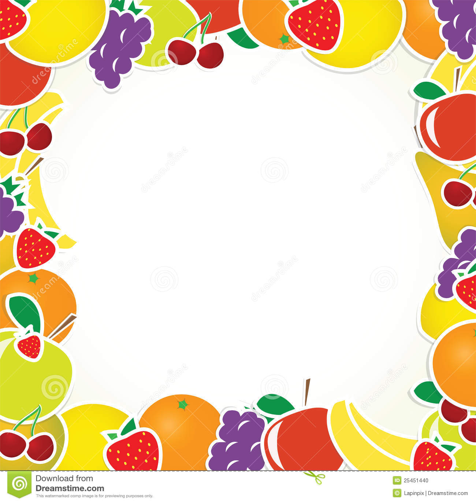 Vector Fruit Frame Stock Vector Illustration Of Beverage