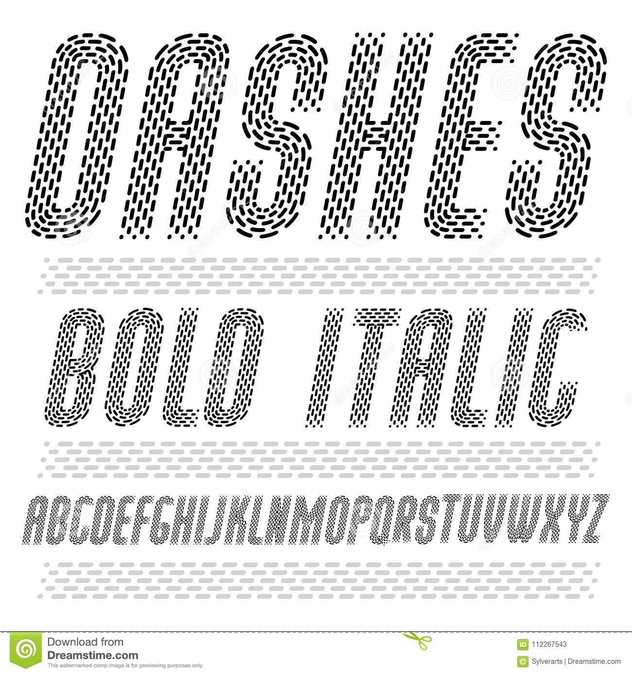 Vector Funky Condensed Capital English Alphabet Letters