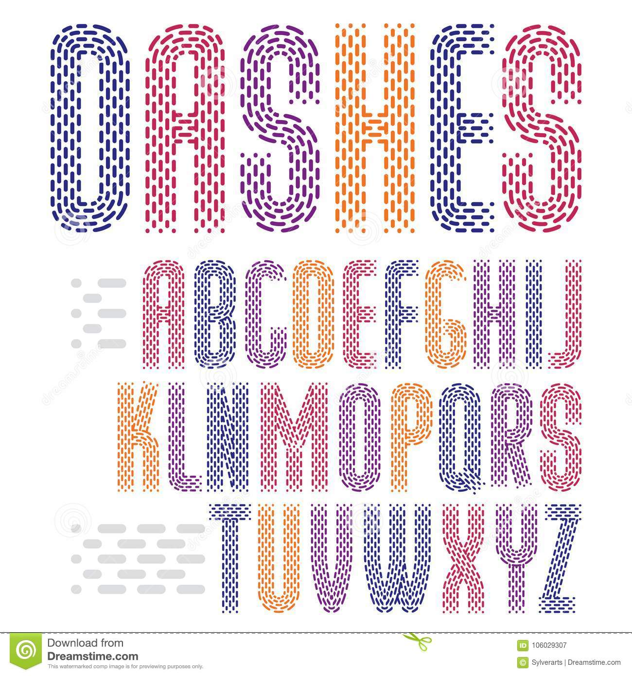 Vector Funky Condensed Capital English Alphabet Letters Collection