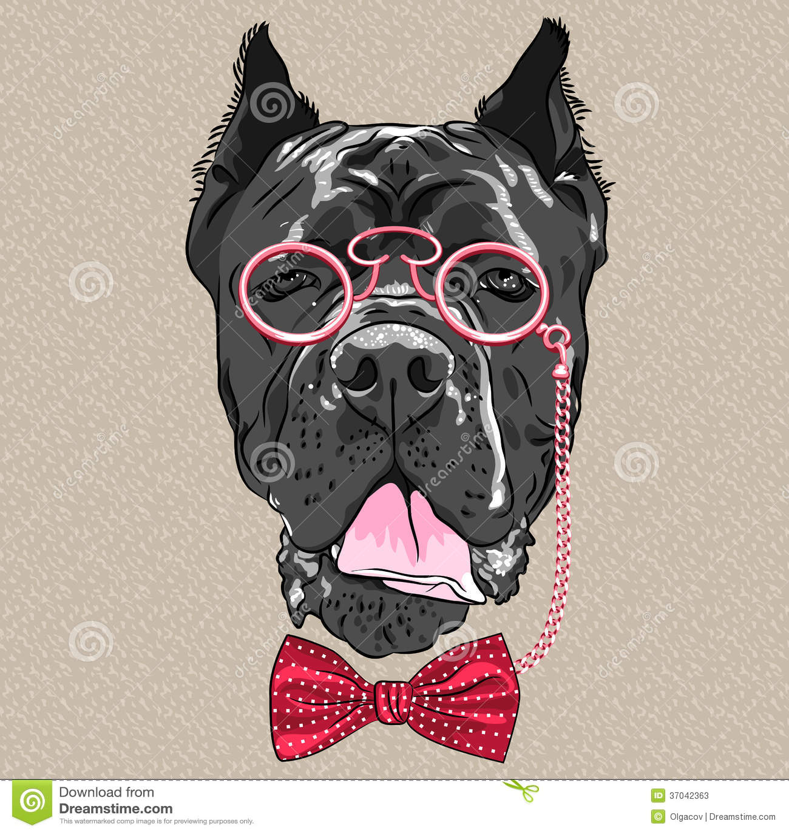 Cartoon Dog In Glasses