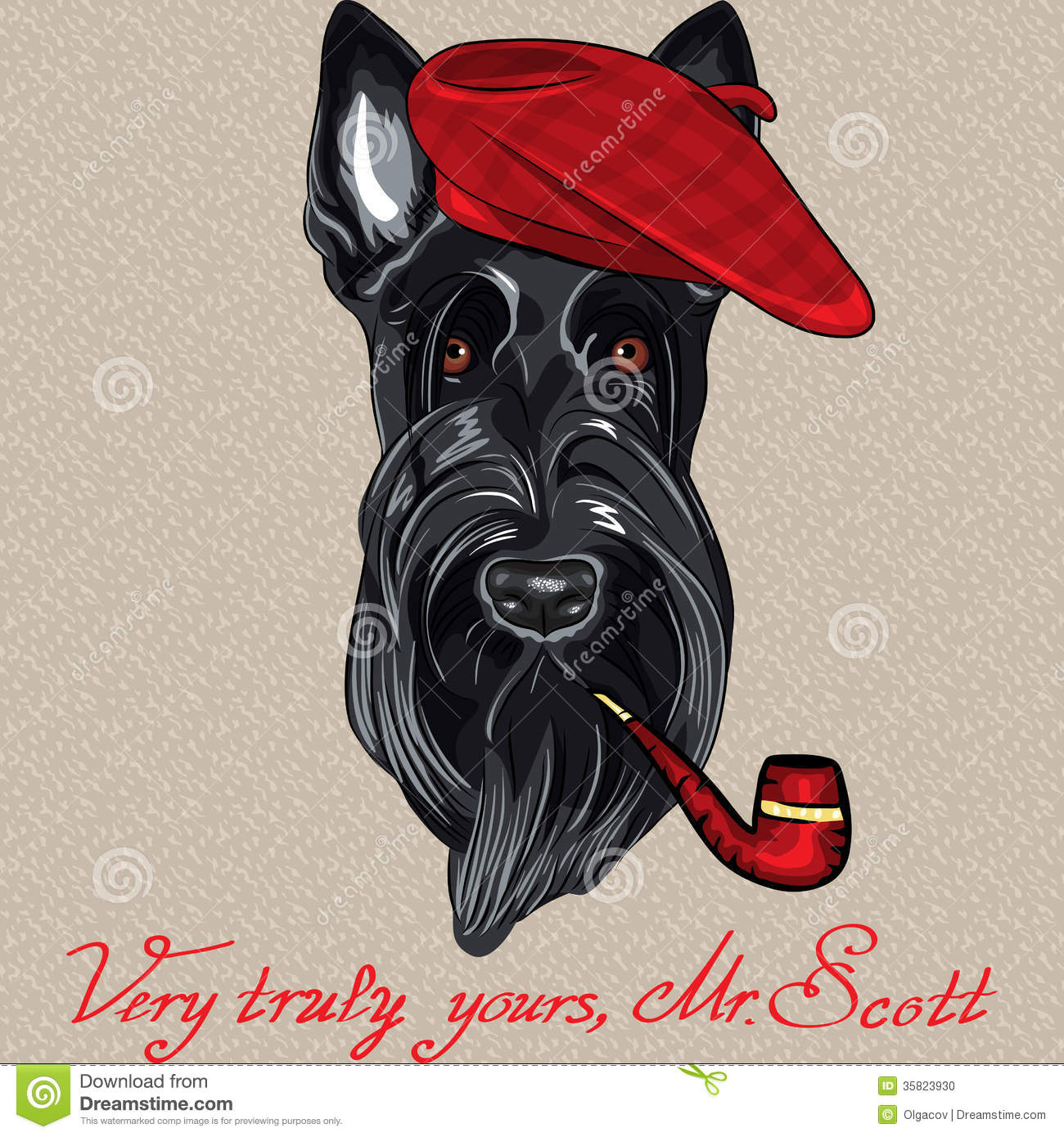 Scottish Terrier Cartoon cartoon scottish terrier stock photo - image ...