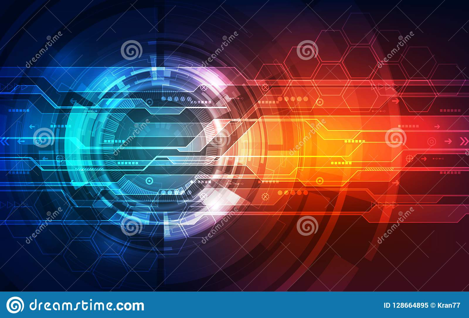 Vector future digital speed technology concept, abstract background illustration