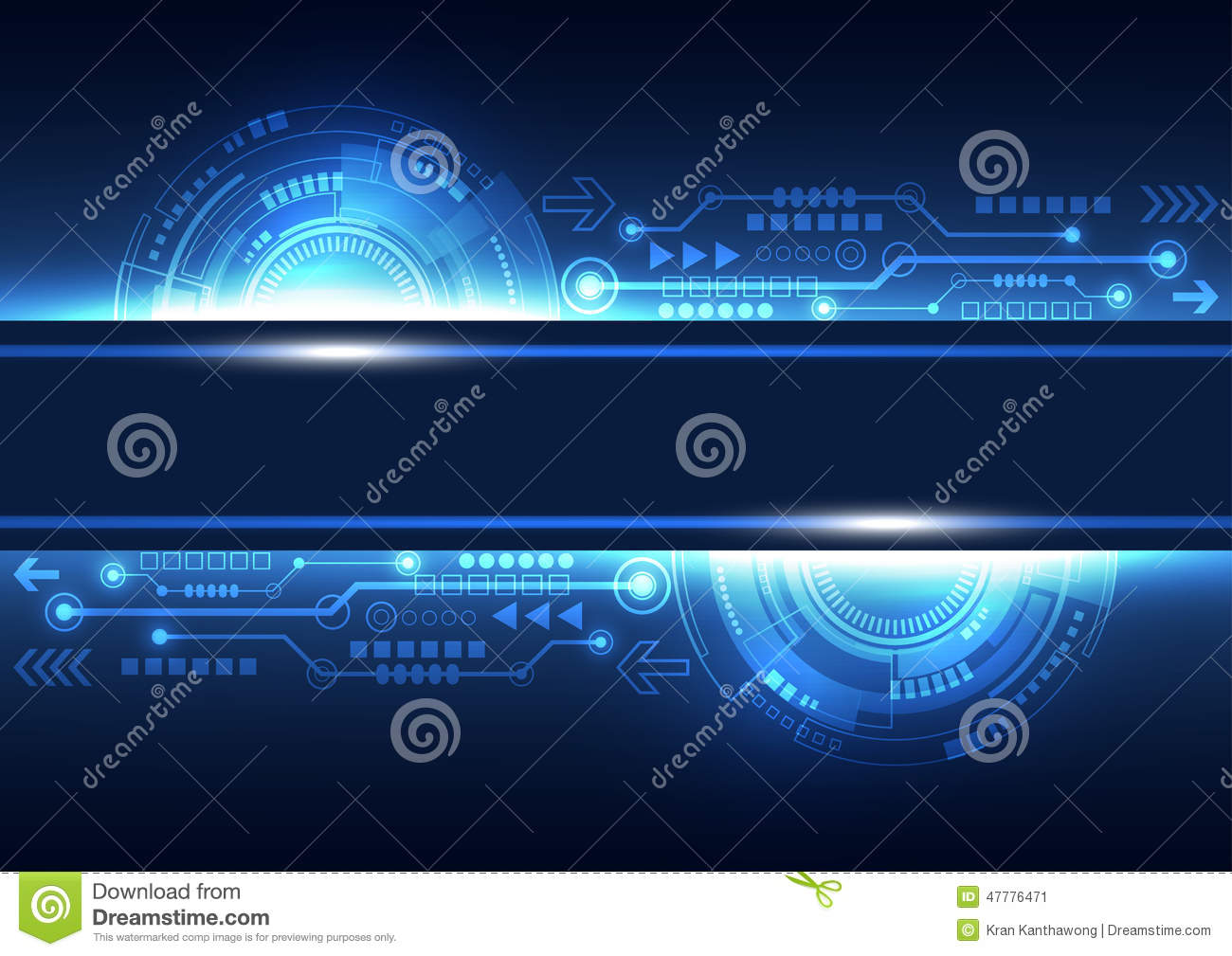 Technology Abstract Background Stock Illustration: Vector Future Network Telecom Technology, Abstract