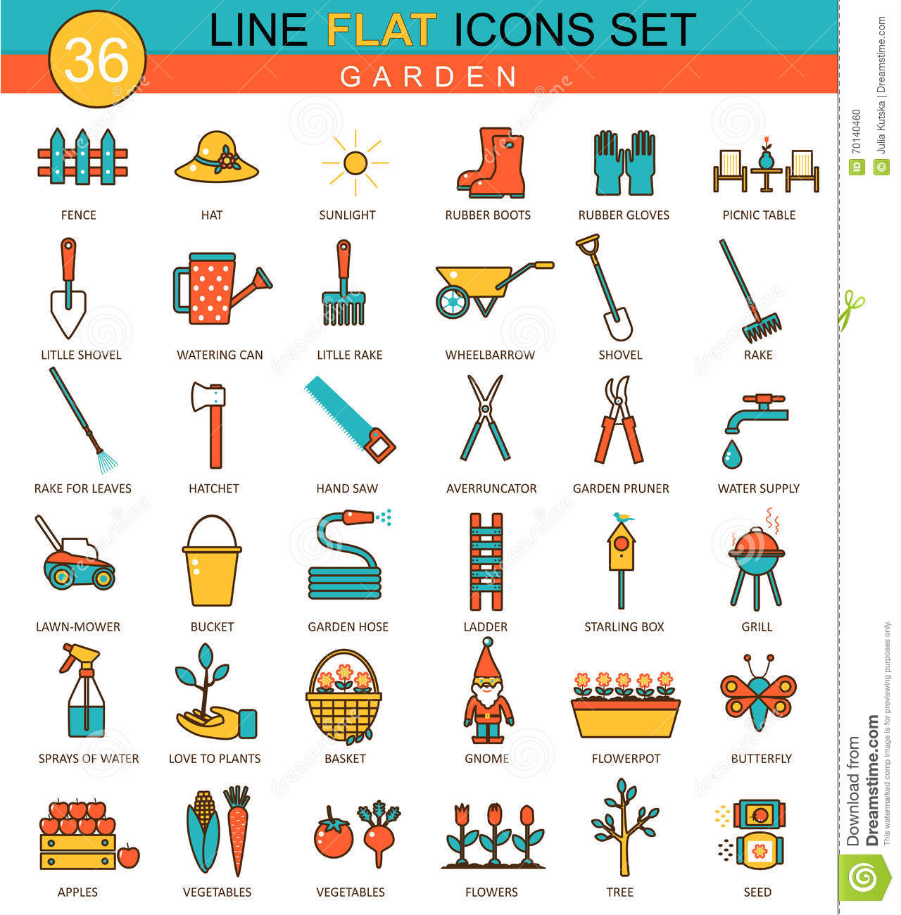 Garden tools symbol vector icon vector illustration for Landscape design icons