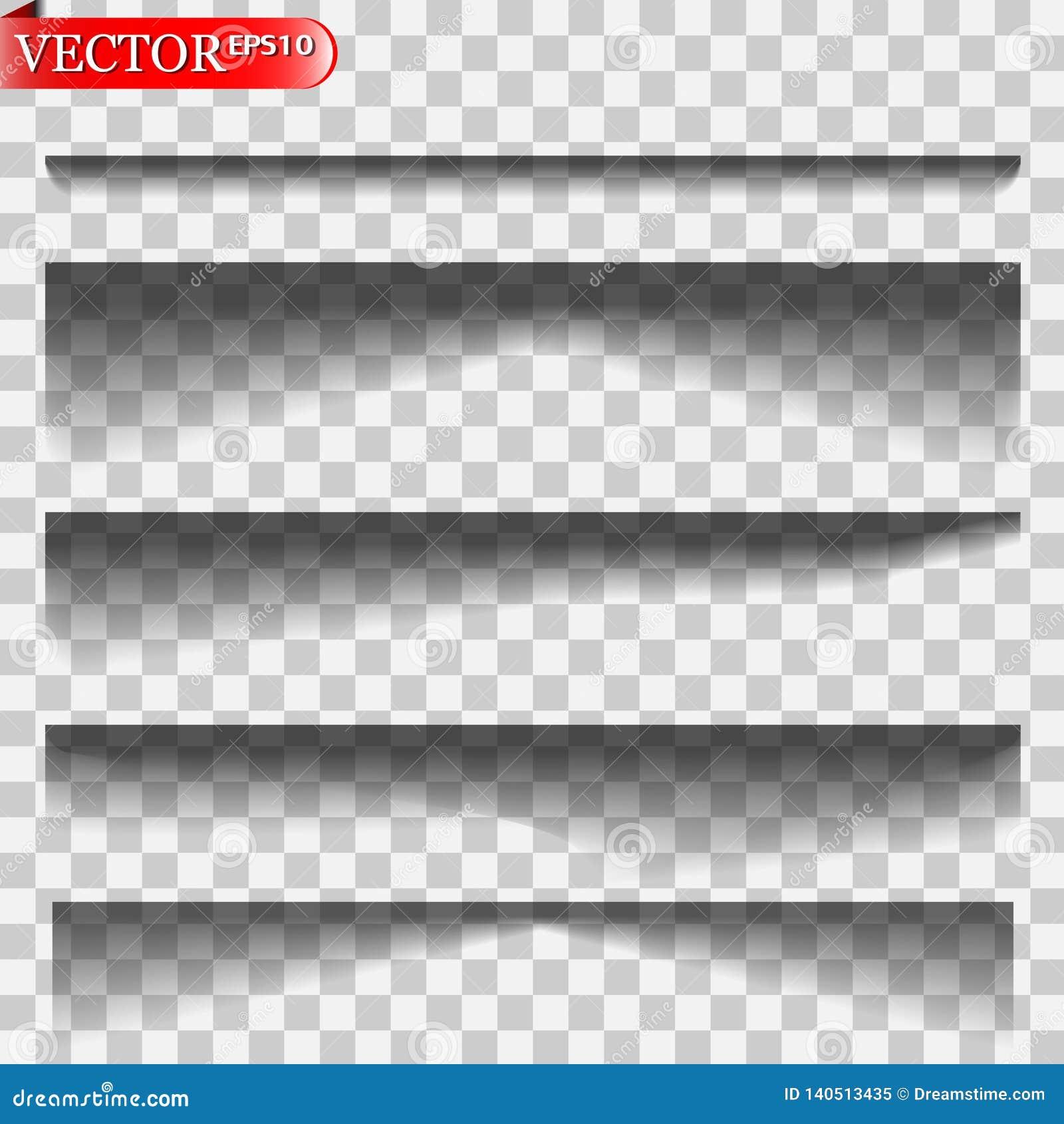 Vector geïsoleerde schaduwen