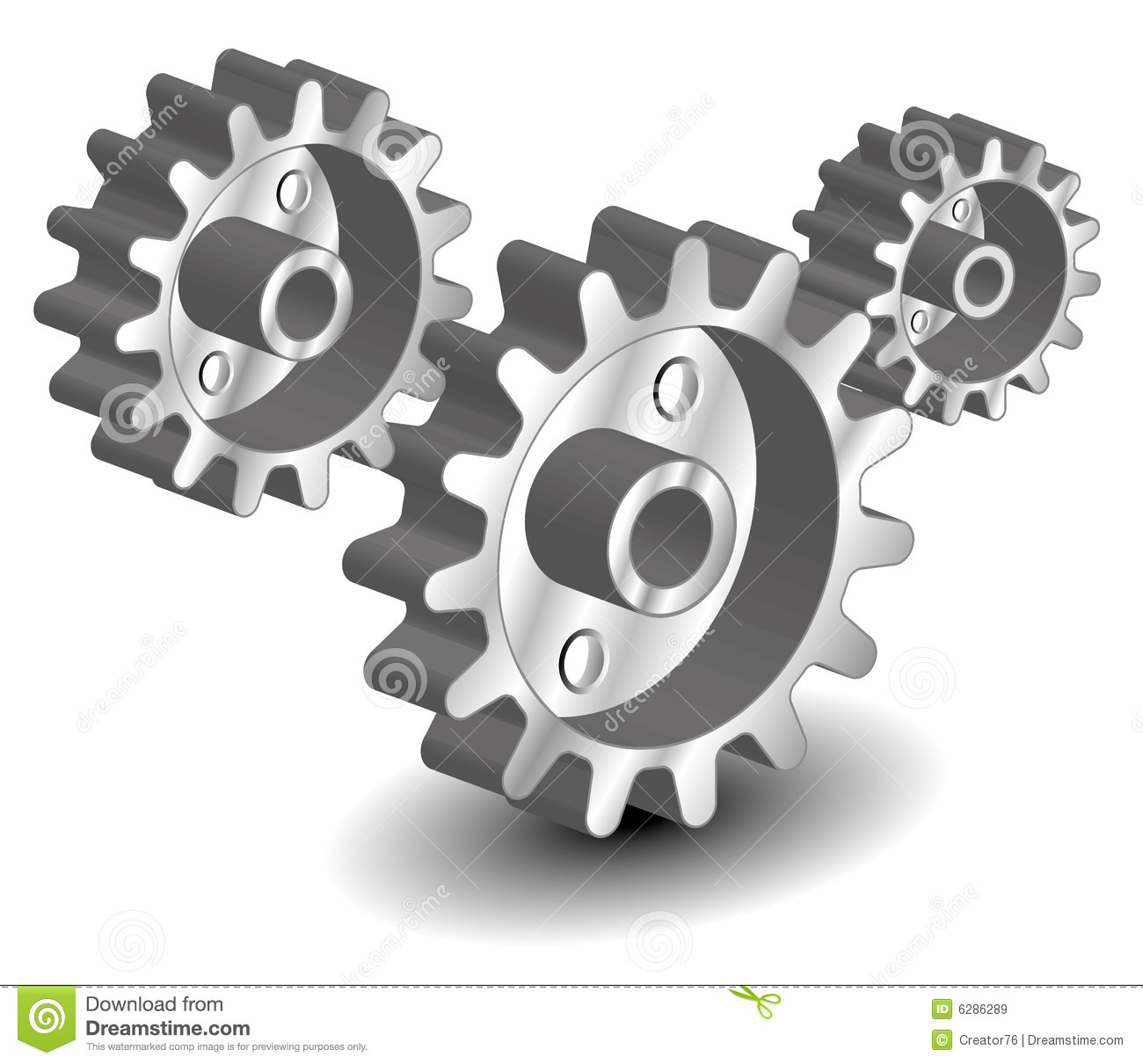 Vector Gears Royalty Free Stock Images - Image: 6286289