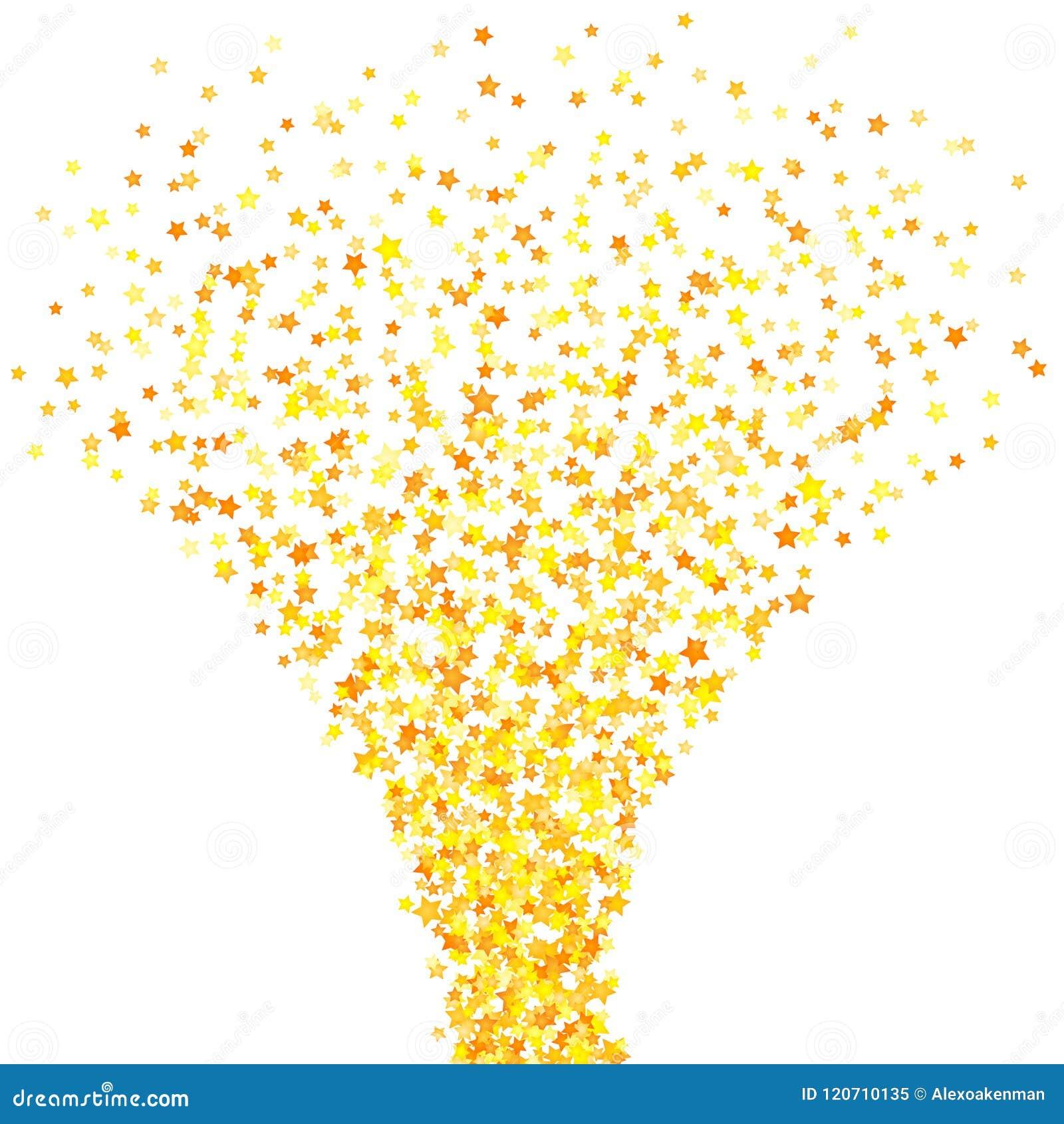 Vector gelbes Sternhintergrundelement in der flachen Art