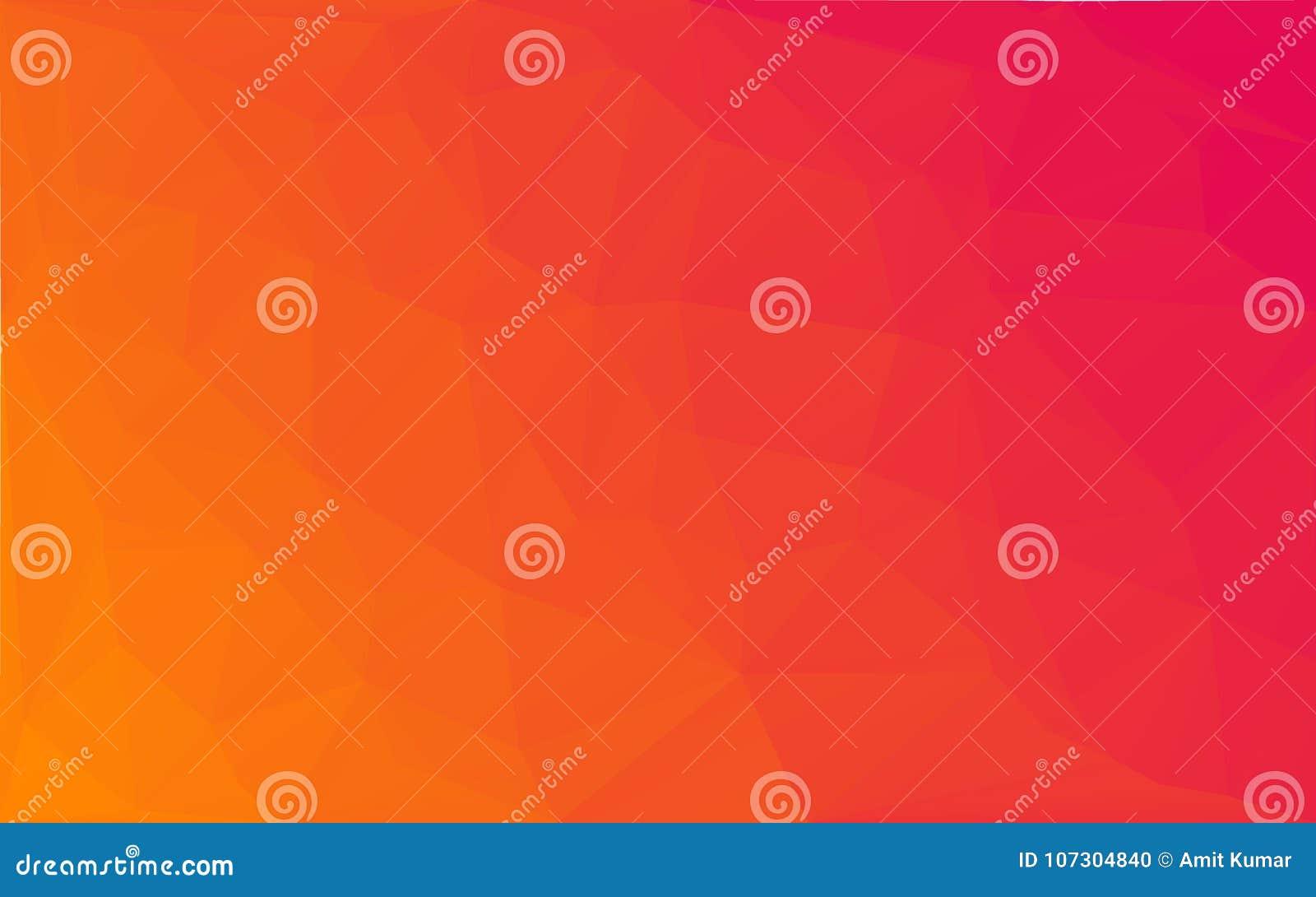 Vector gele roze achtergrond van het veelhoek de Abstracte mozaïek