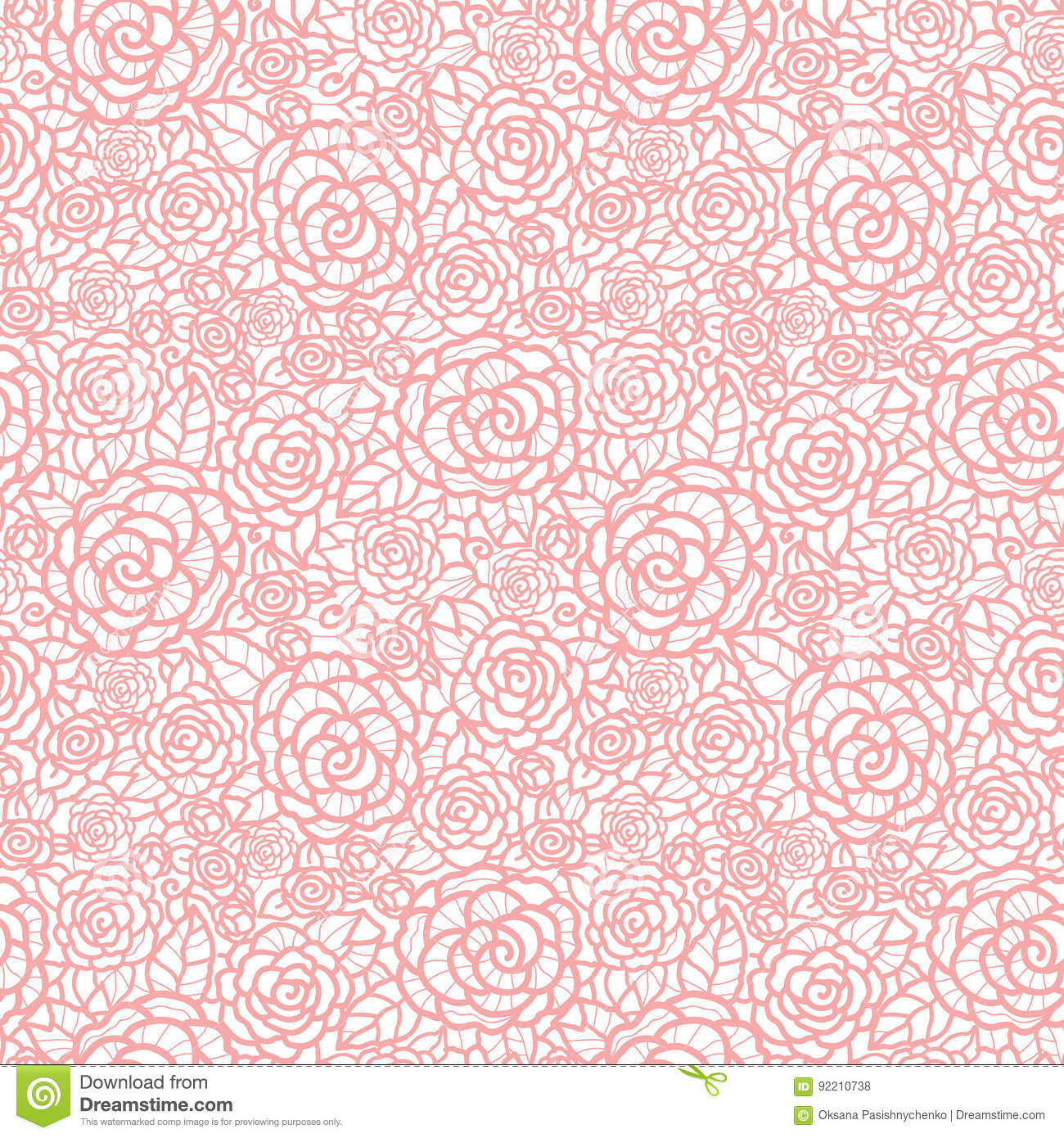 Vector gentle pastel pink lace roses seamless repeat pattern background great for wedding or - Pastel lace wallpaper ...