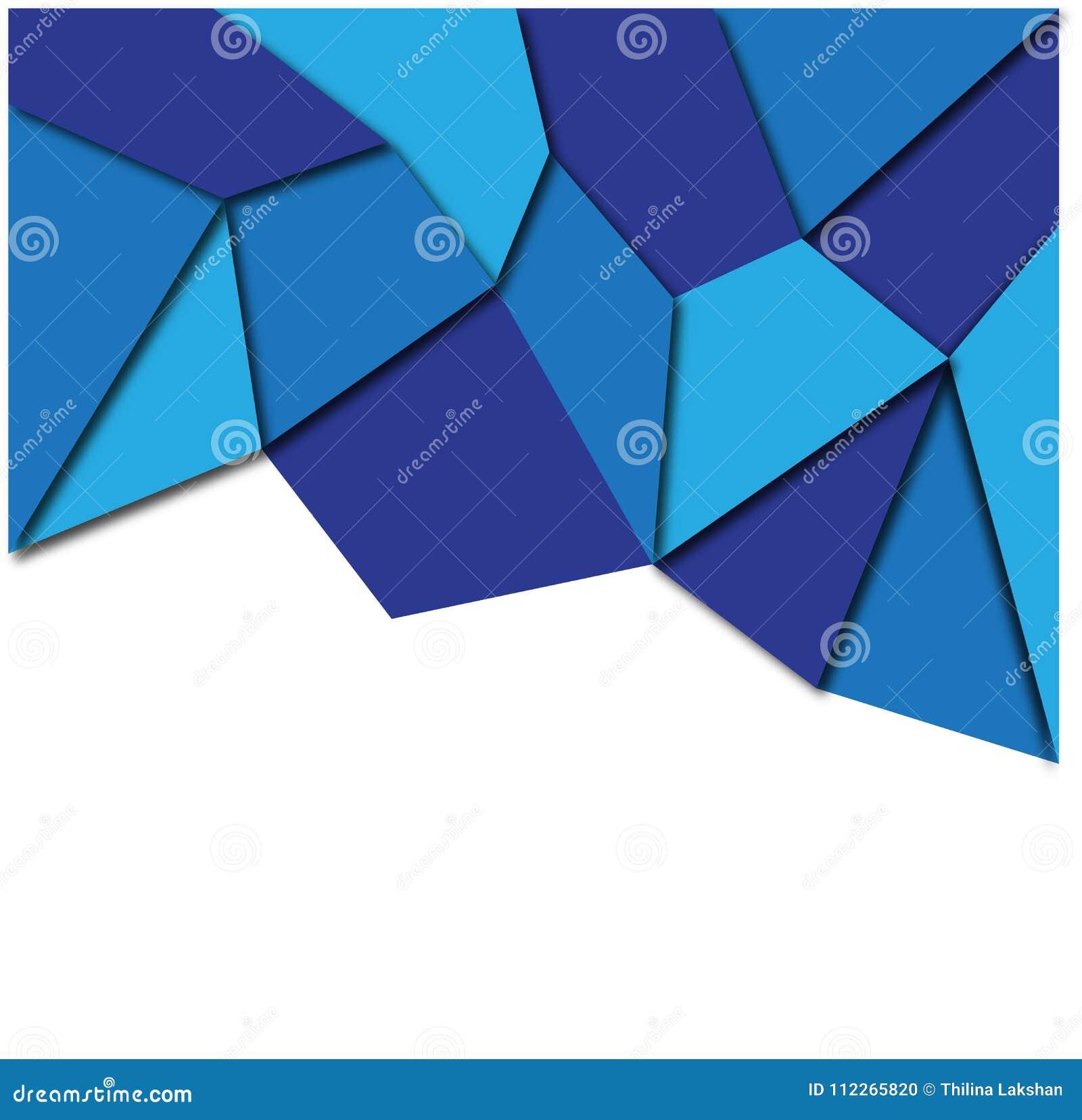 Vector geométrico del fondo del extracto azul colorido profesional del color