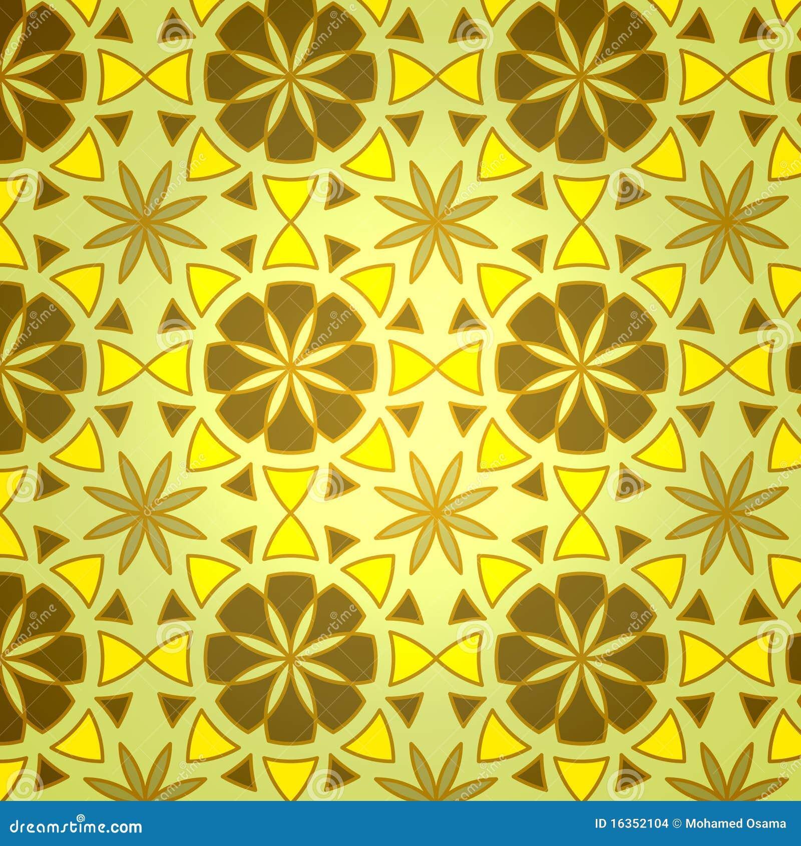 Vector Geometric Flower Seamless Pattern