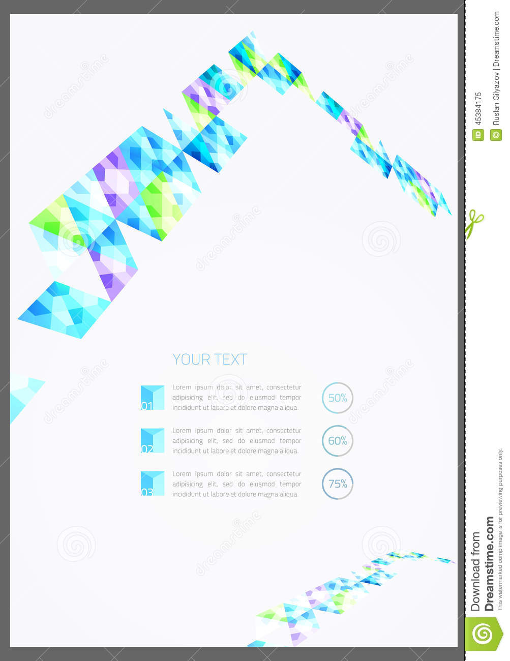 Vector Geometric Flyer Template Illustration Image 45384175 – Geometric Flyer Template