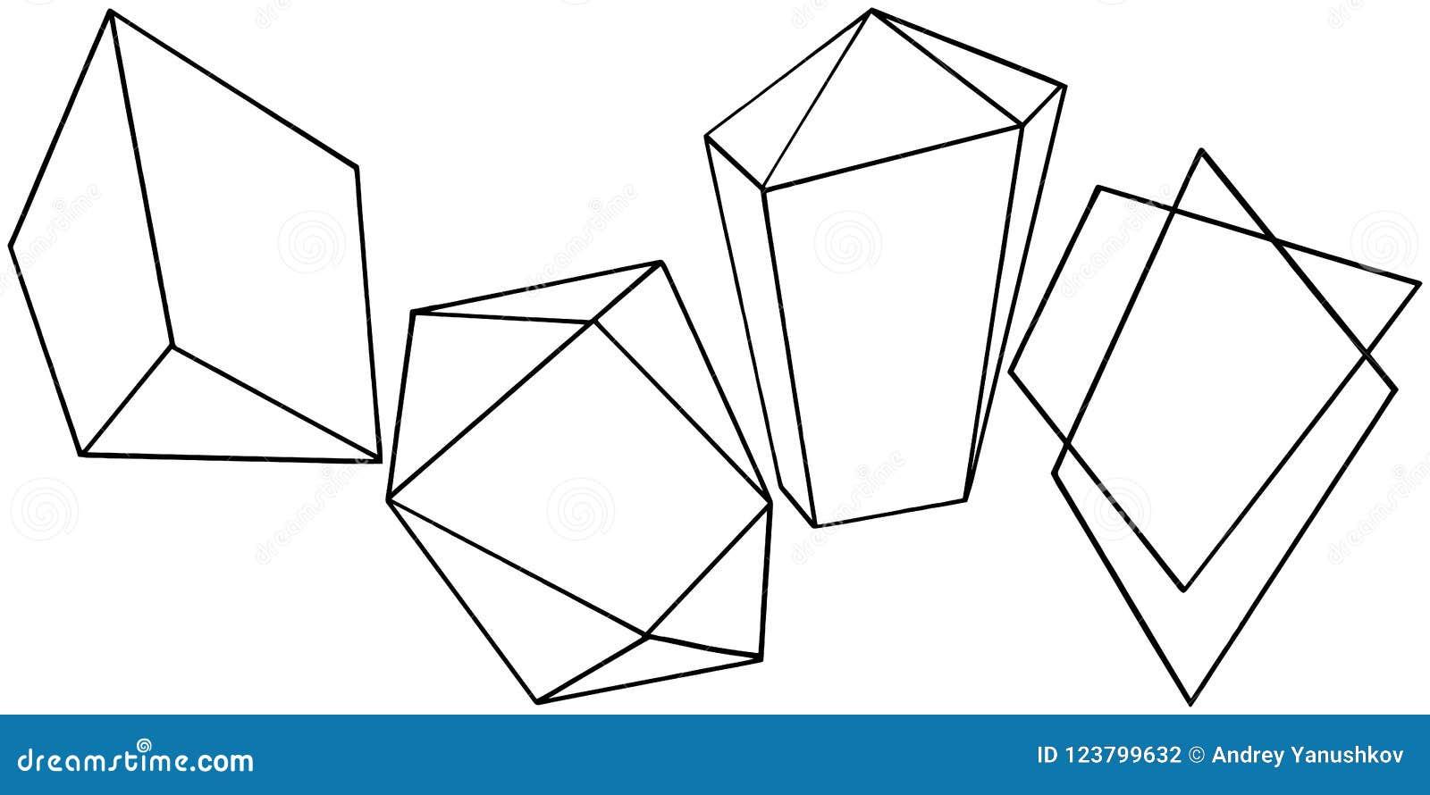 vector geometric form. isolated illustration element. mosaic shape
