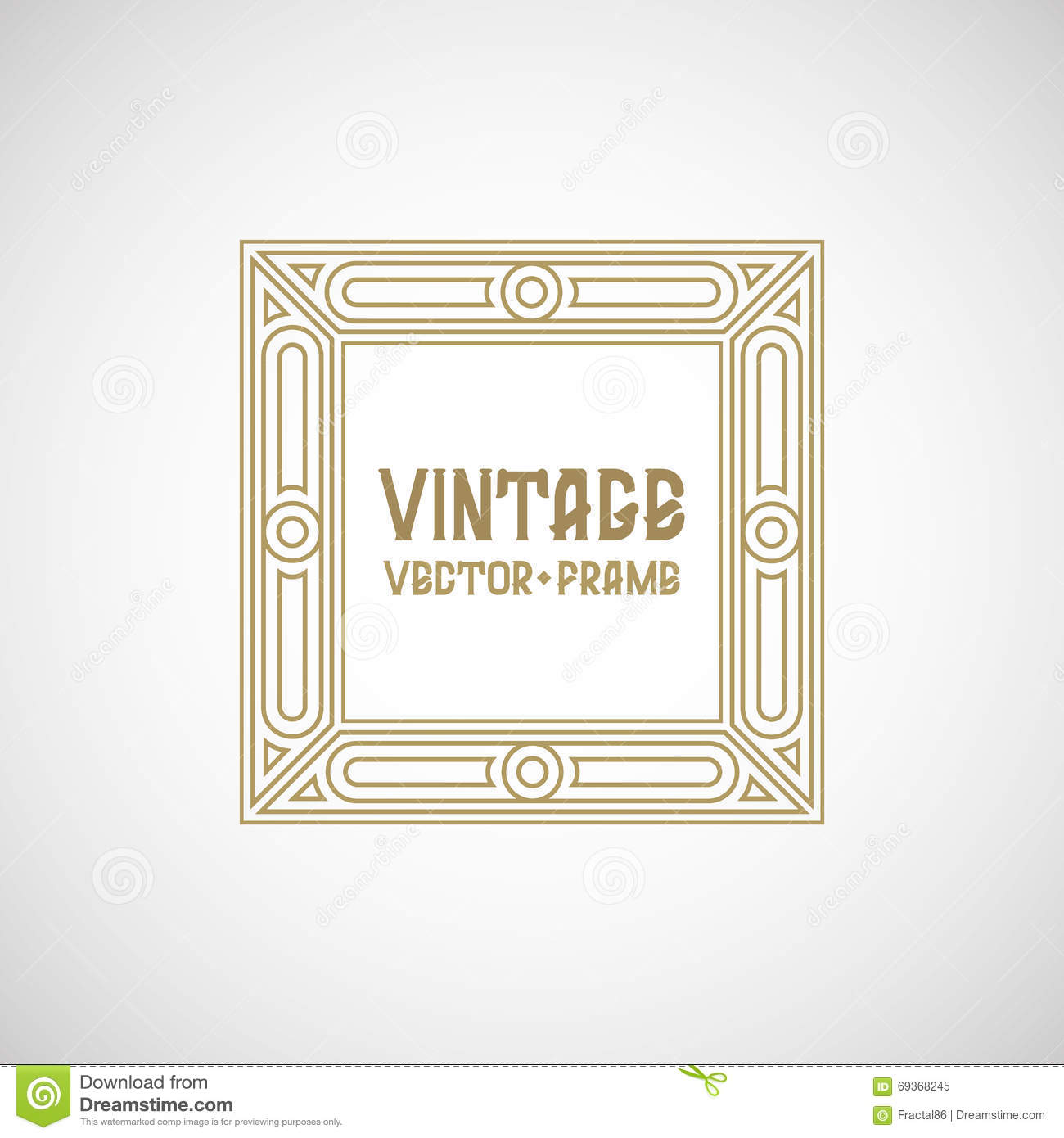 Vector geometric linear style frame cartoon vector for A style text decoration
