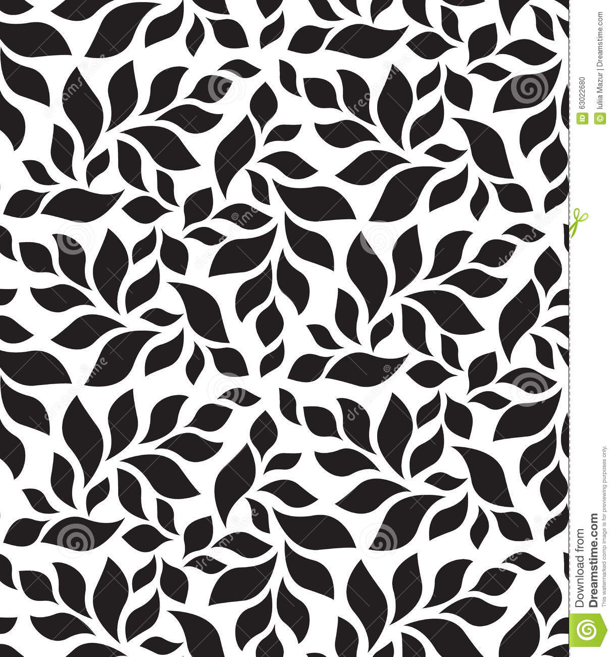 Aninimal Book: Vector Geometric Seamless Pattern. Modern Floral, Leaves ...