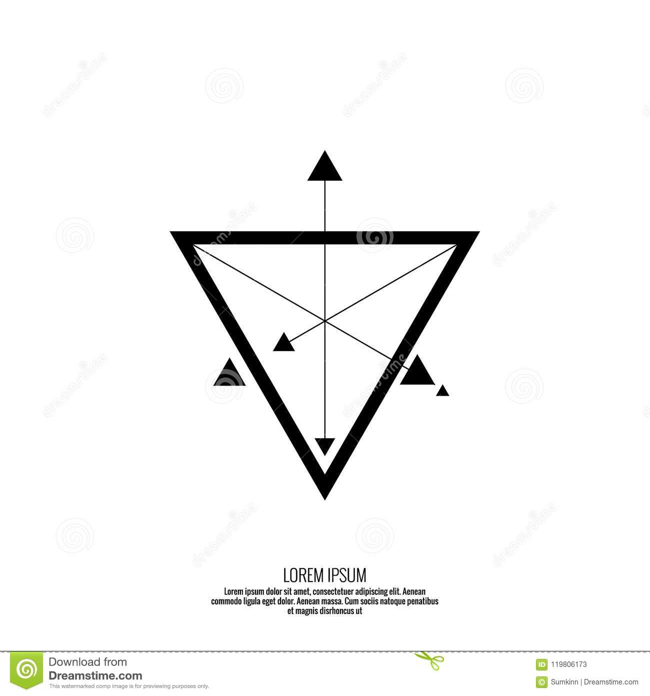 Vector Geometric Symbol Triangle Stock Vector Illustration Of