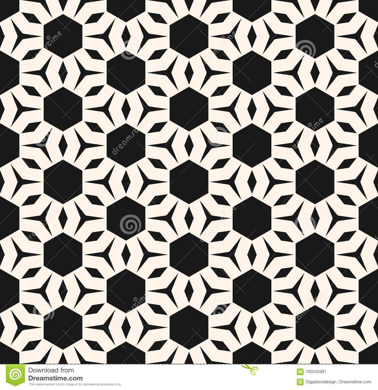 Vector Geometric Texture Abstract Floral Ornamental Pattern