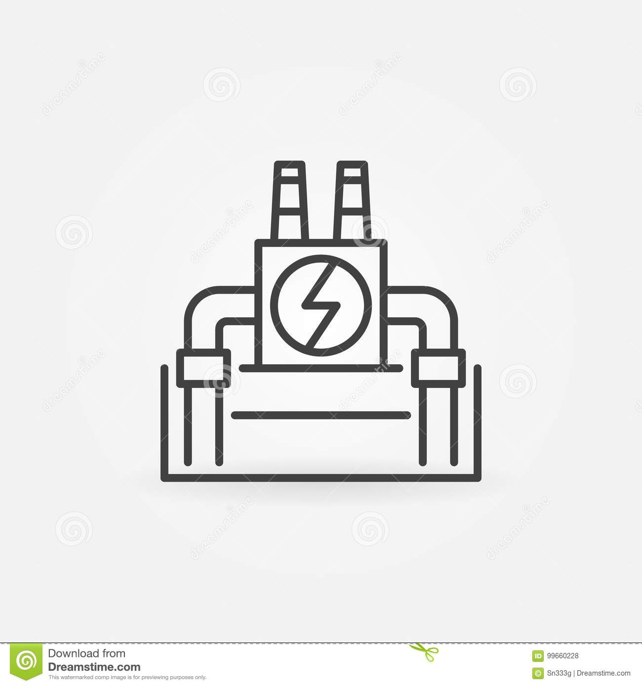 Vector Geothermal Power Plant Icon Stock Illustration Of Diagram Download Background 99660228